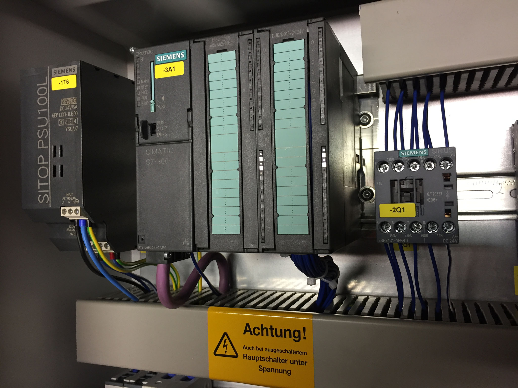 Control cabinet with Siemens S7 300