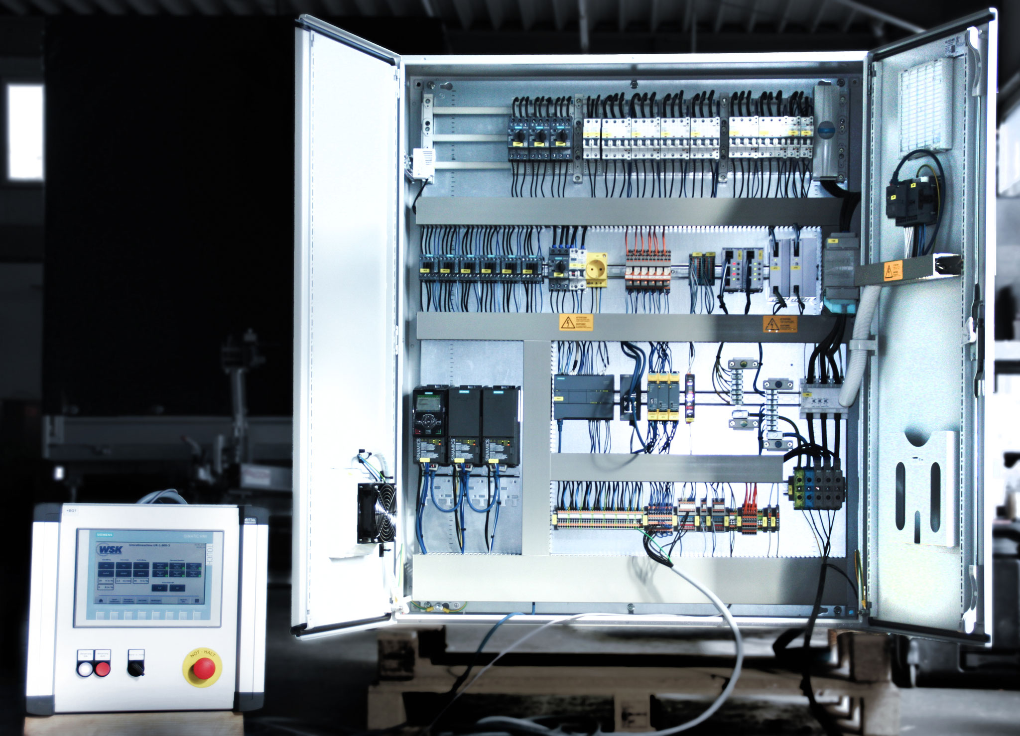 Control and drive system for winding machine