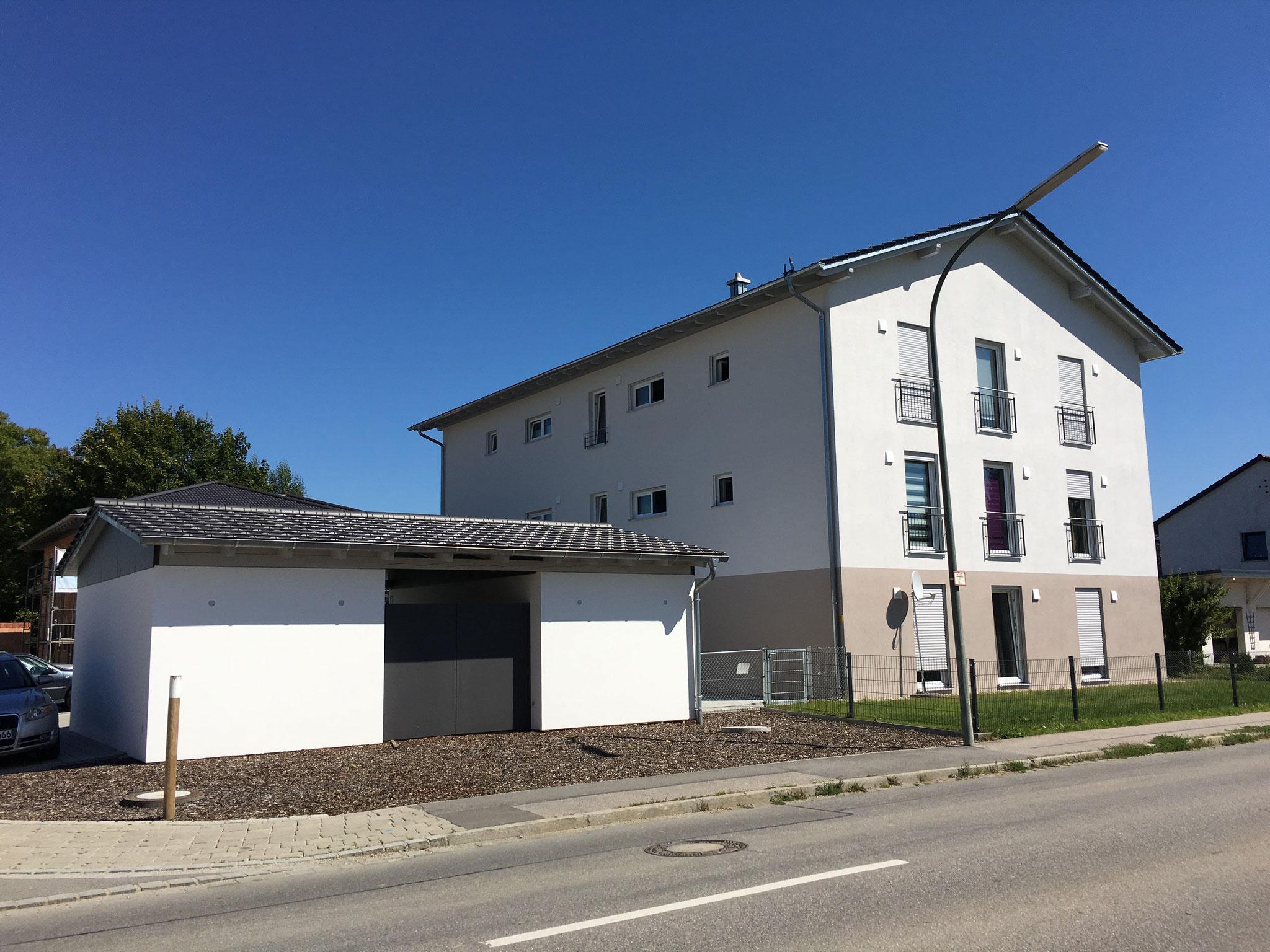 Neubau von 2 Mehrfamilienwohnhäusern mit 6 Wohneinheiten, Niederaichbach 2016 - Gebäude 1
