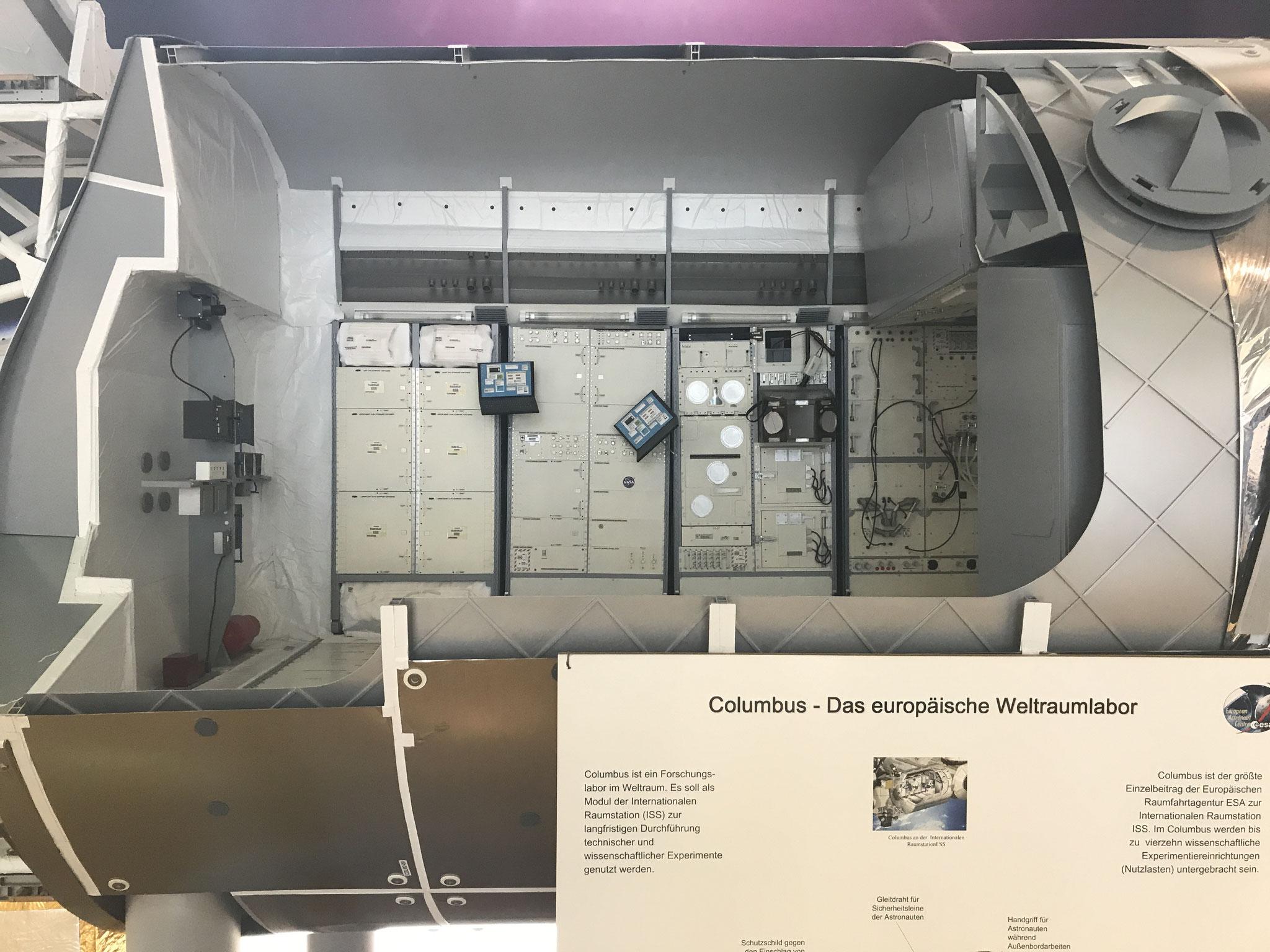 Innenansicht des Weltraumlabors. Foto Sigrid Bucholz