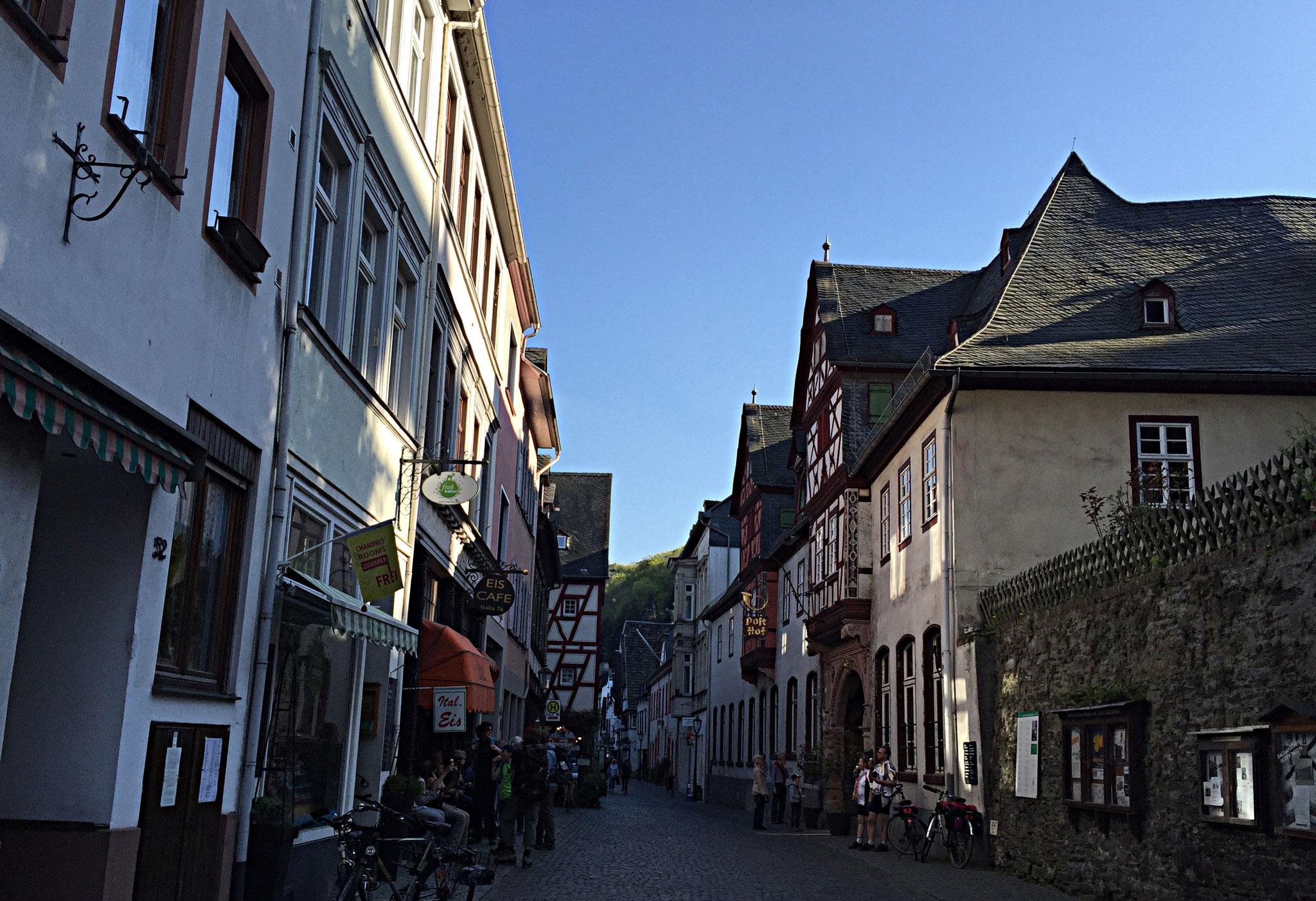 Straßenszene Bacharach