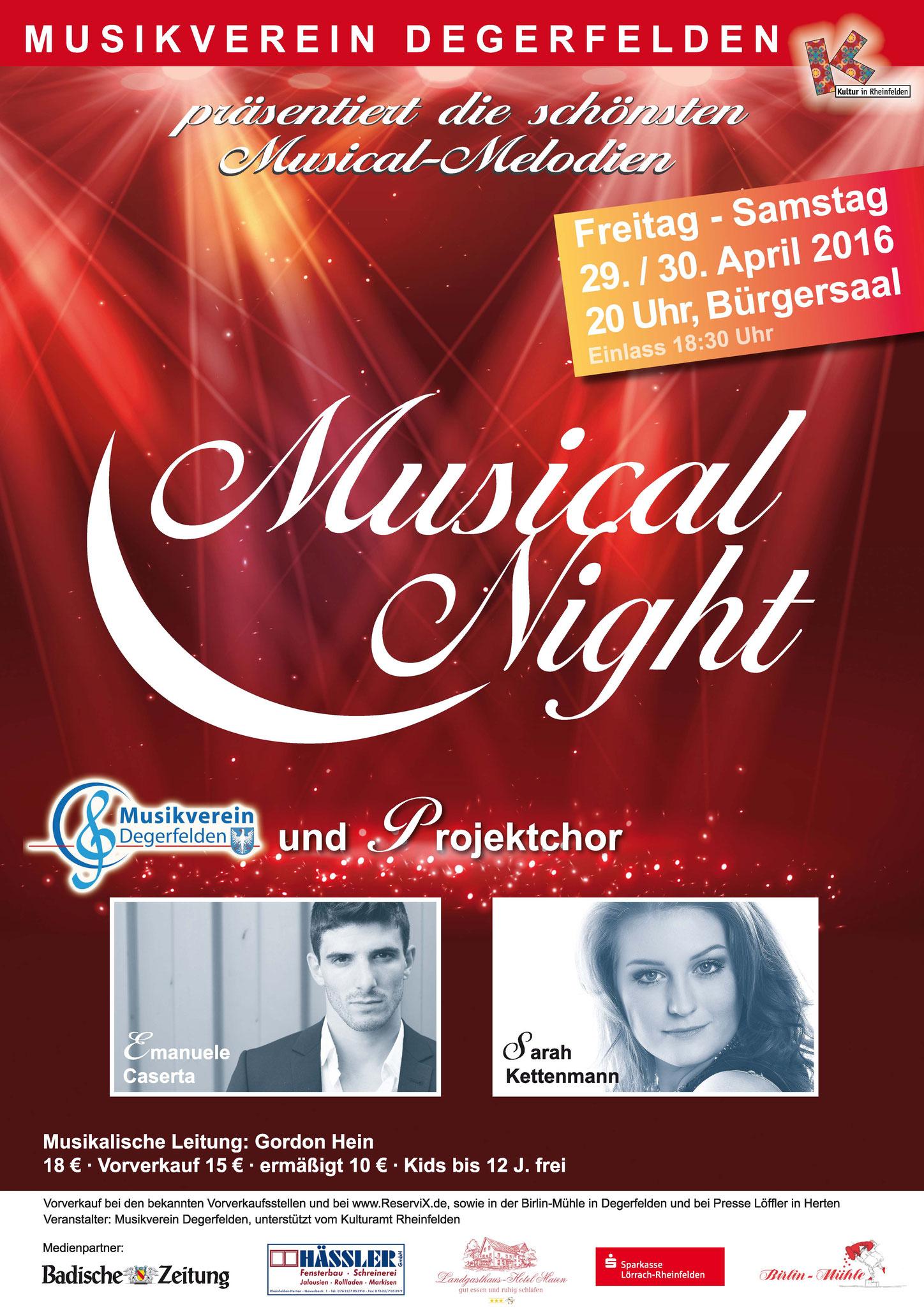 Musical Night Plakat von Christine Winghardt Friedrichshafen