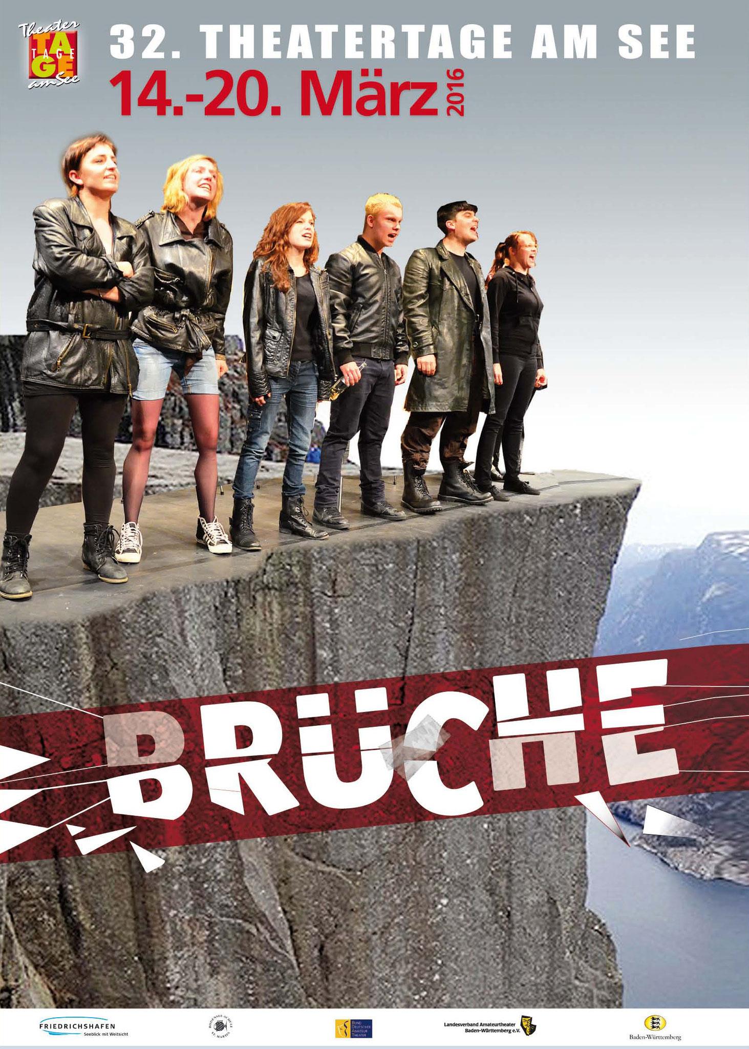 Theatertage Plakat von Christine Winghardt Friedrichshafen