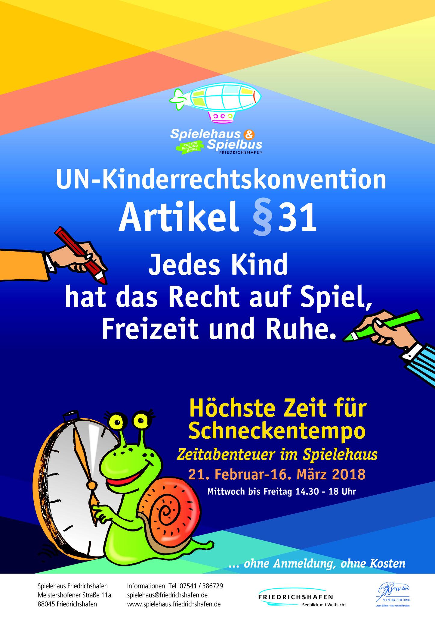 Spielehaus Plakat von Christine Winghardt Friedrichshafen