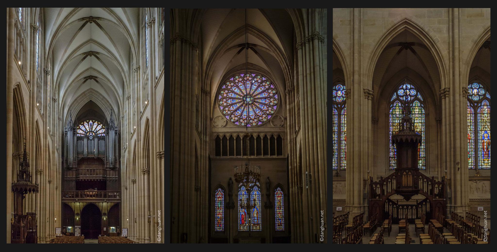 Basilique Sainte Clotilde - l'orgue est célèbre dans le monde entier pour la qualité sonore de ses tuyaux renforcée par une acoustique exceptionnelle de la Basilique