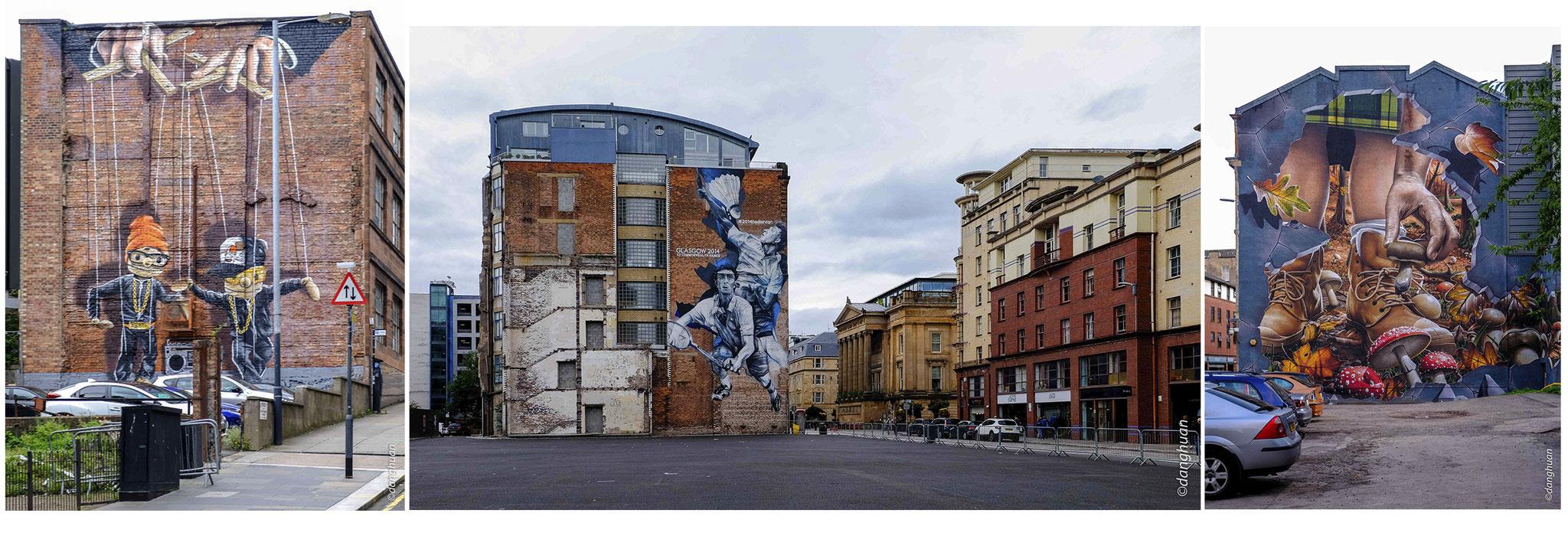 les murs de Glasgow