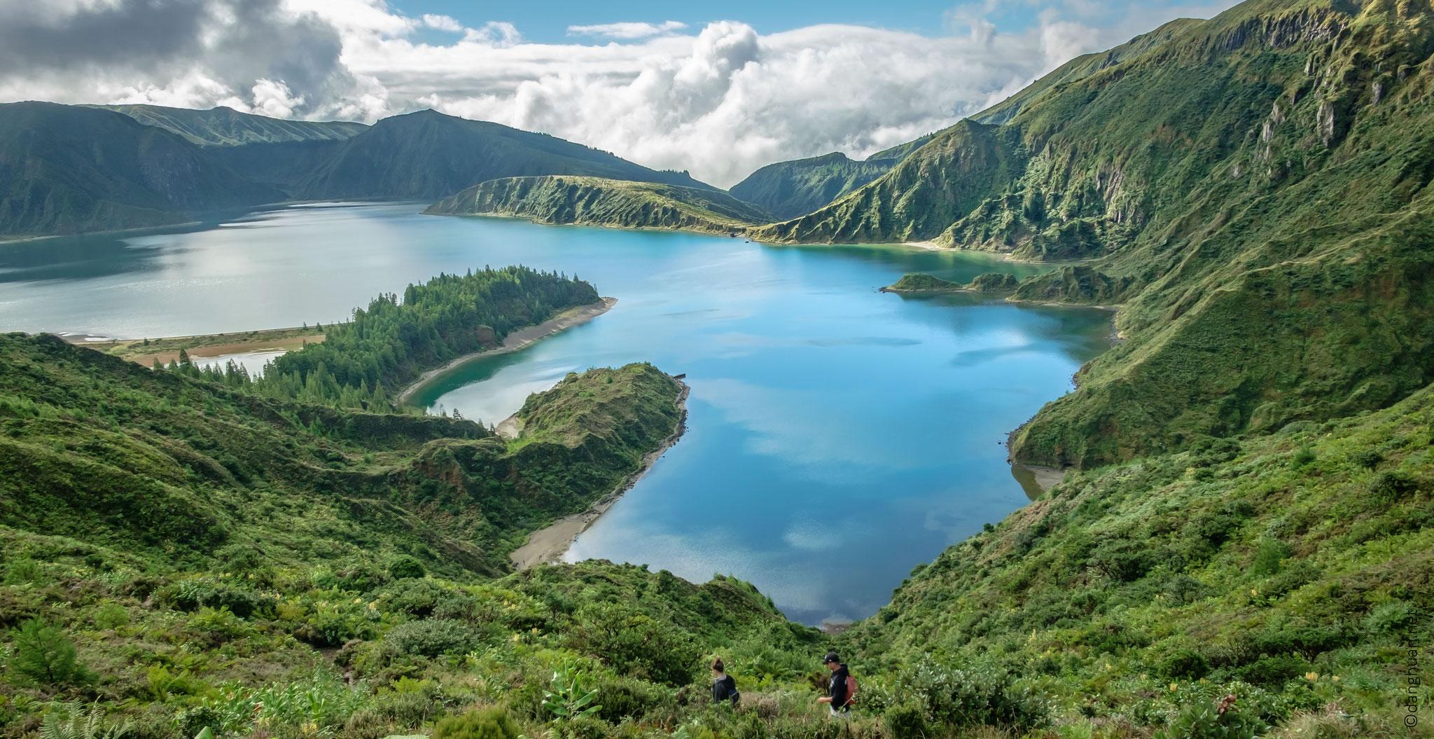 Lago do Fogo - descente vers le lac
