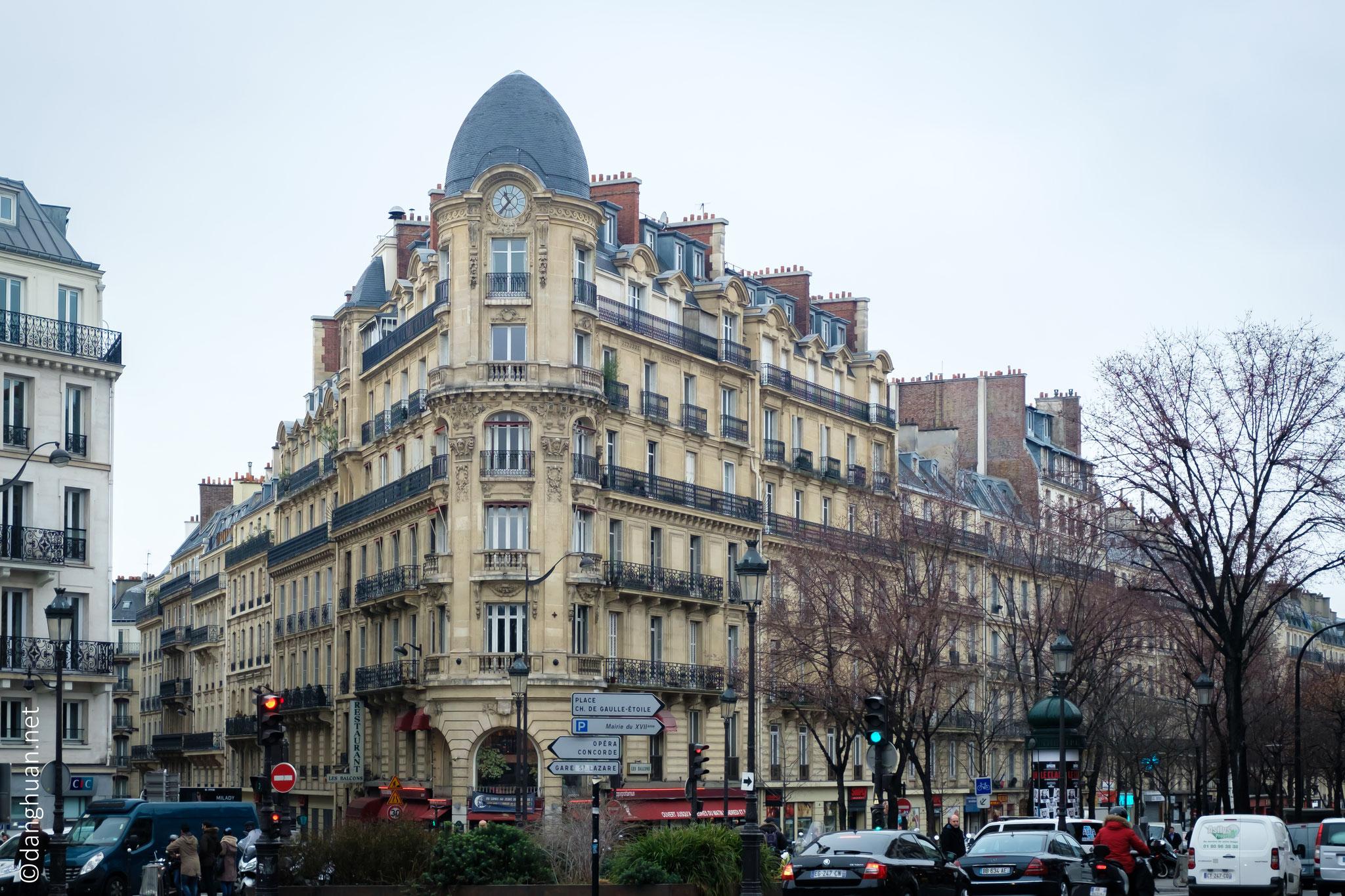 Immeuble sur le boulevard de Clichy