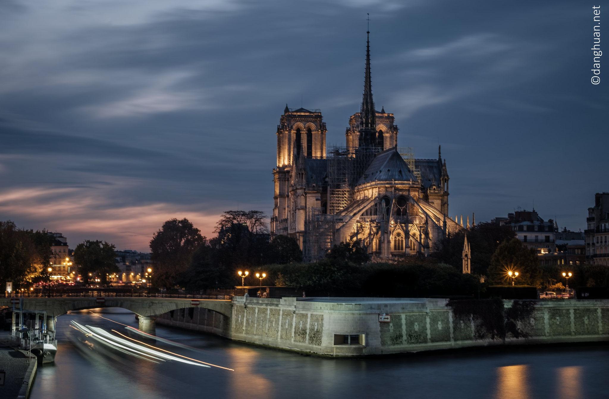 Notre Dame de Paris 5 mois avant l'incendie du 15 Avril 2019