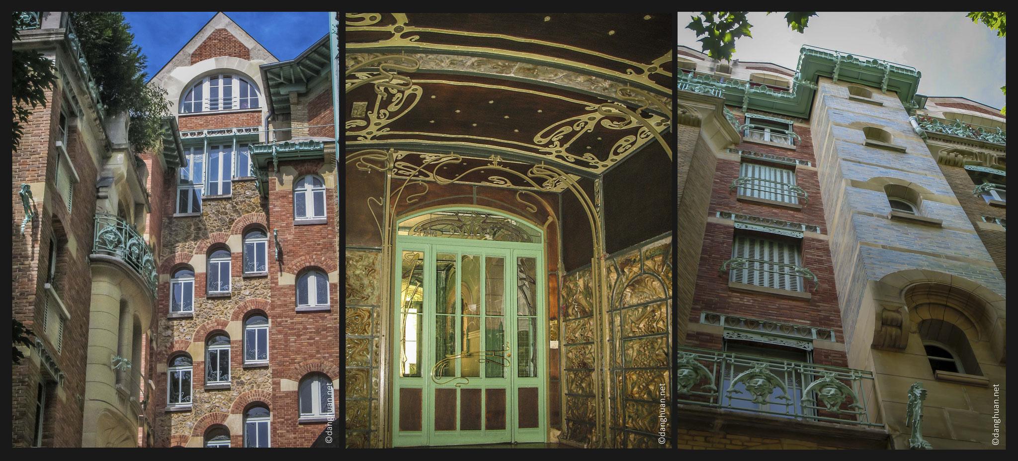 Guimard obtient avec cet immeuble le 1e prix de la plus belle façade de la ville de Paris en 1898, concours organisé par le journal Le Figaro