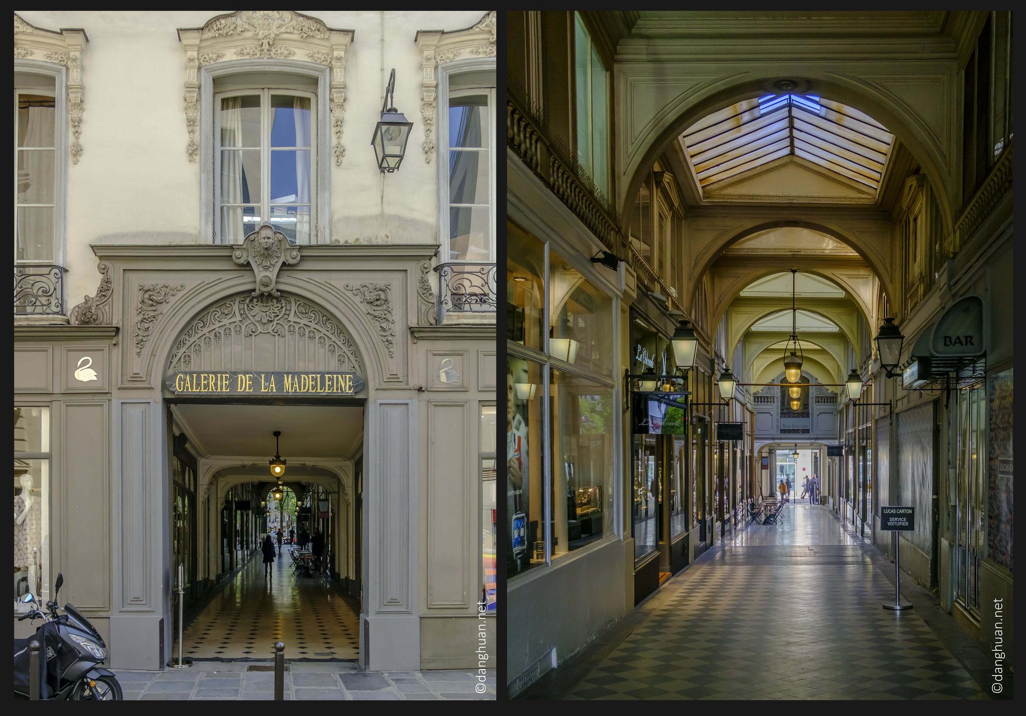 Galerie de la Madeleine : Construite dans la même période que la place et l'église de la Madeleine au XIXe siècle...