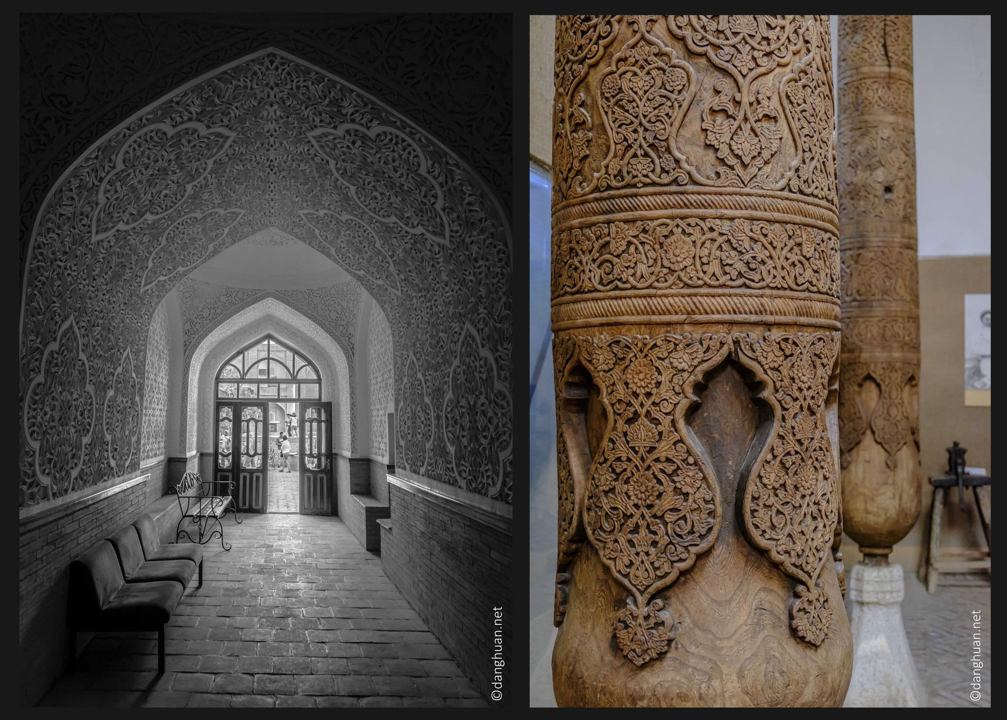 éléments architecturaux dont la colonne sculptée