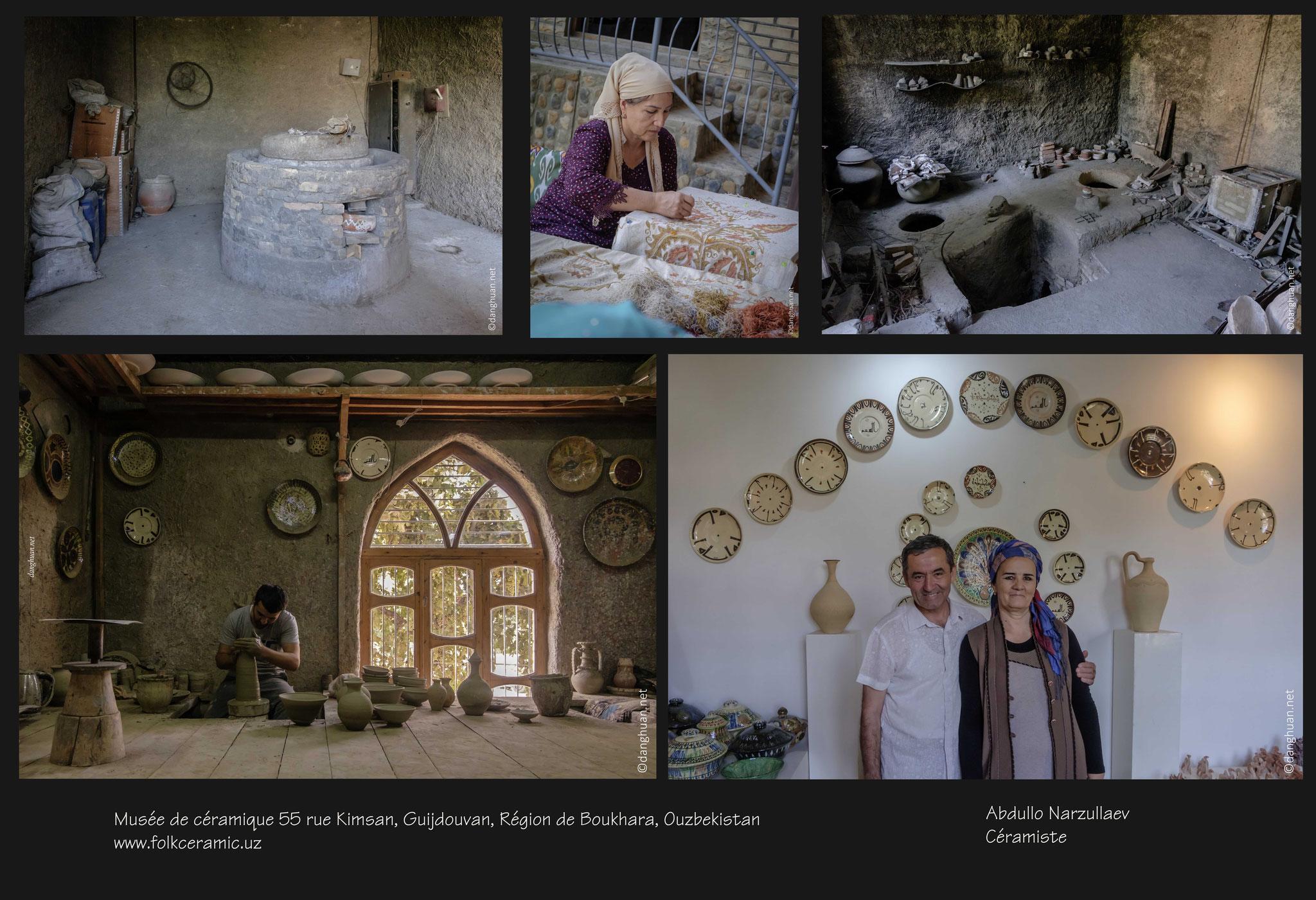 La broderie aux colorants naturels et la céramique de Guijdouvan sont les deux traditions dont hérite la famille Narzoullaec depuis plusieurs générations
