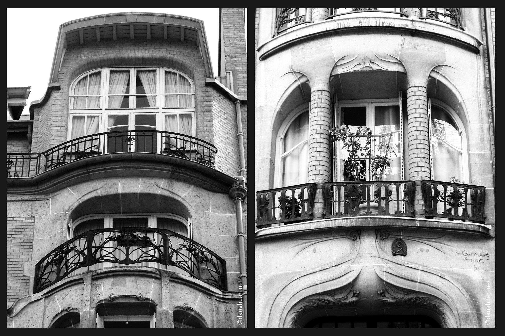 Architecte : Guimard - Rue Agar