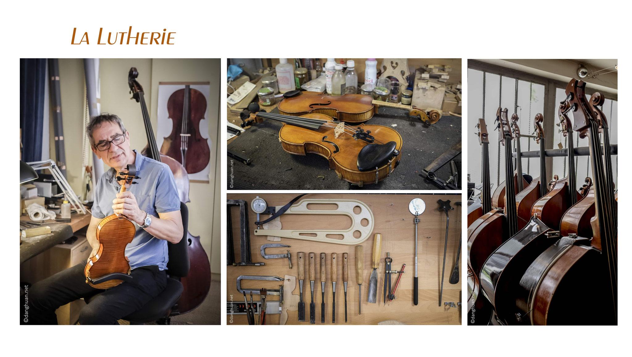 Le luthier Patrick CHARTON à Paris