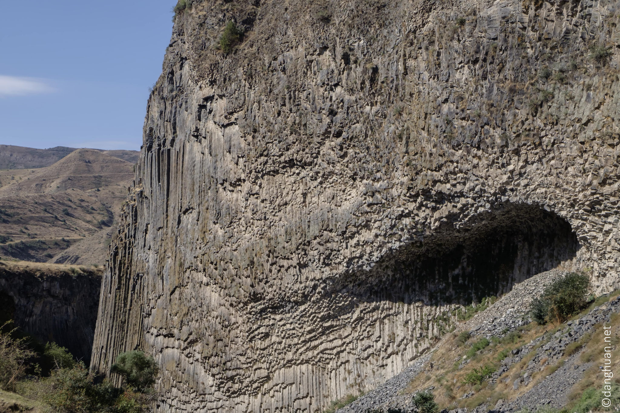 orgues de basalte, au coeur de la gorge de Garni