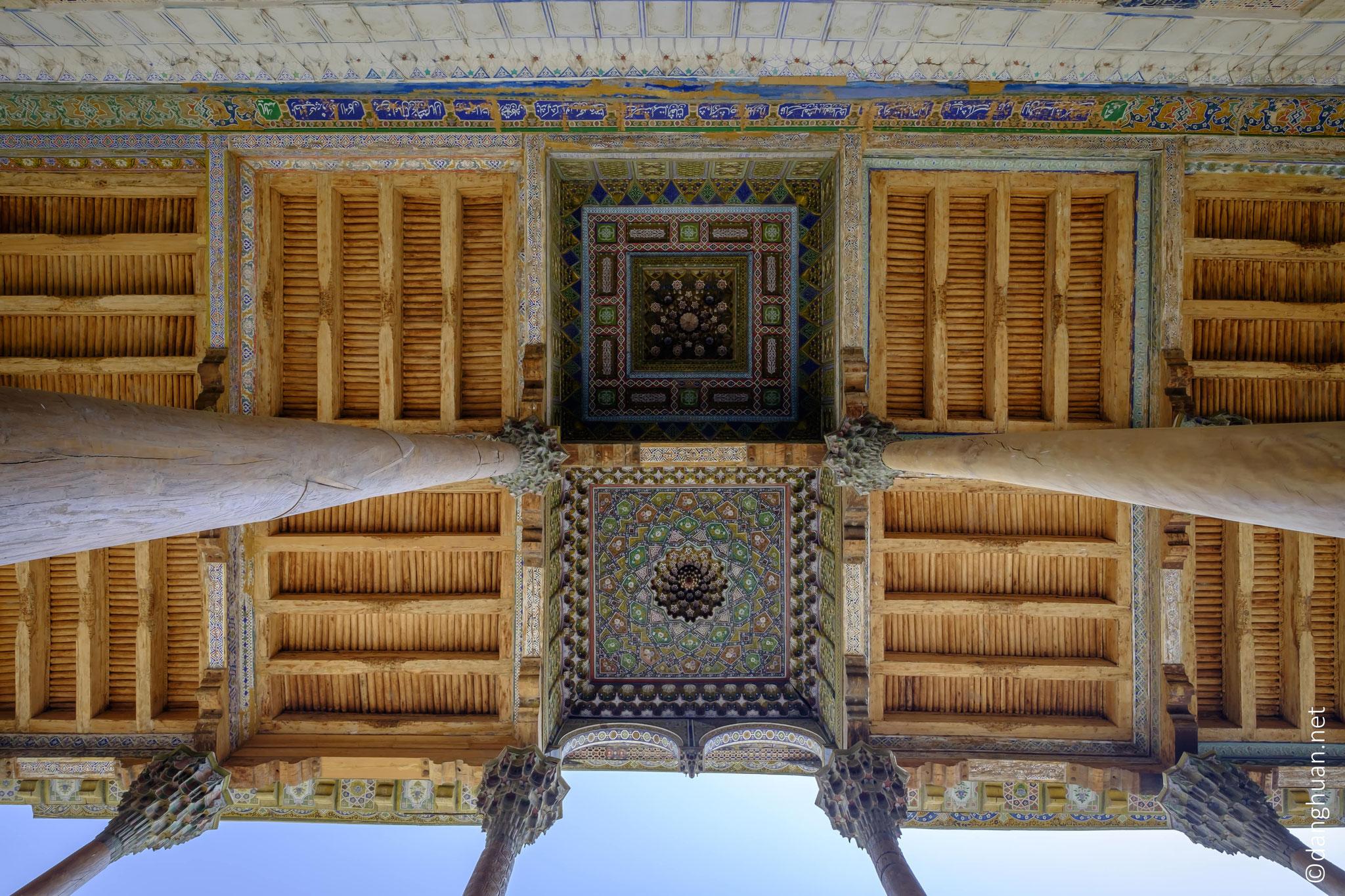motifs du plafond de l'aïwan de la mosquée Bolo-Khaouz