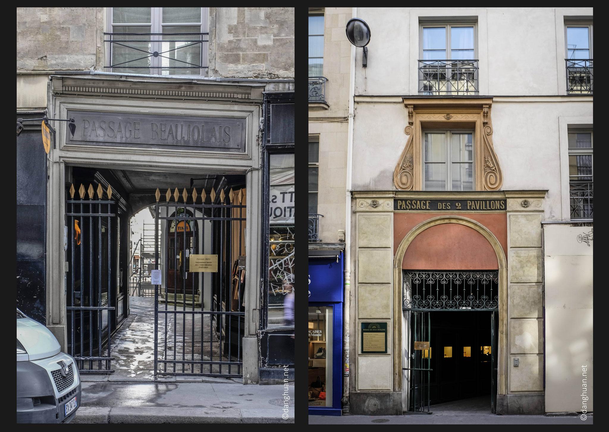 Passage Beaujolais, Passage des 2 Pavillons