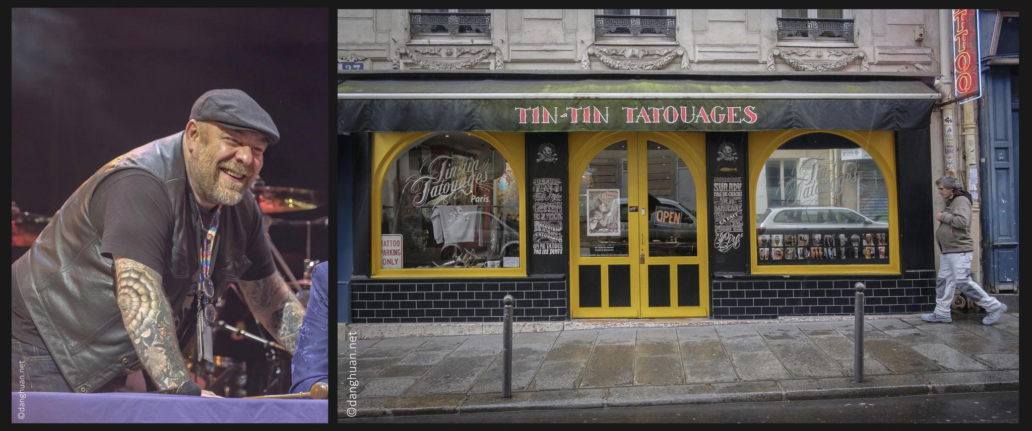 TinTin et sa boutique à l'angle de rue de Douai et rue Blanche