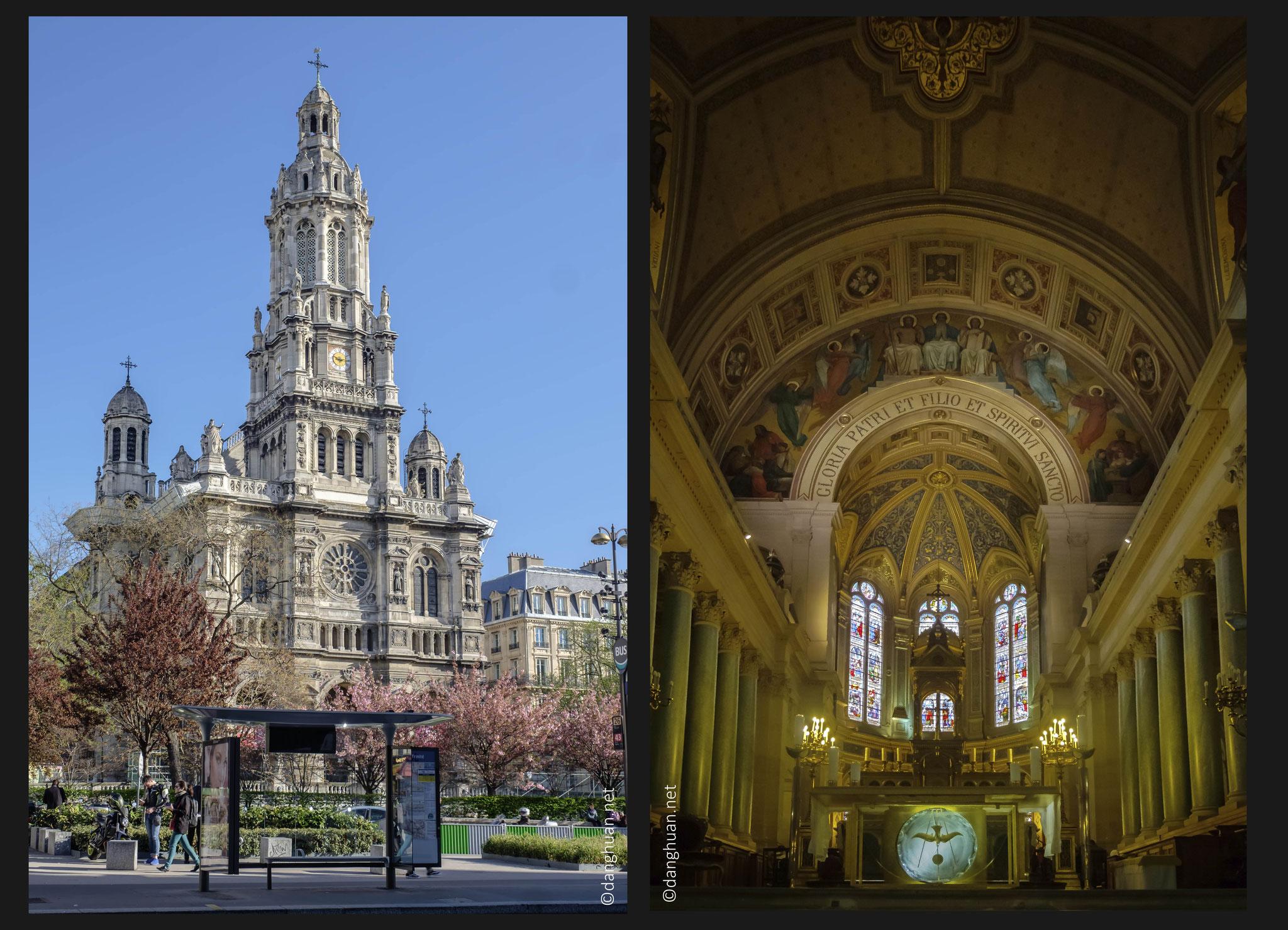 L'Eglise de la Trinité - située place d'Estienne-d'Orves, dans le 9e arrondissement de Paris (1861 - 1867) . Architecte: Théodore Ballu