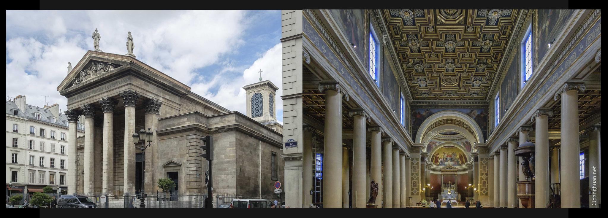 l'église de Notre-Dame-de-Lorette, construite par l'architecte Hippolyte Lebas, qui avait Théodore Ballu pour élève