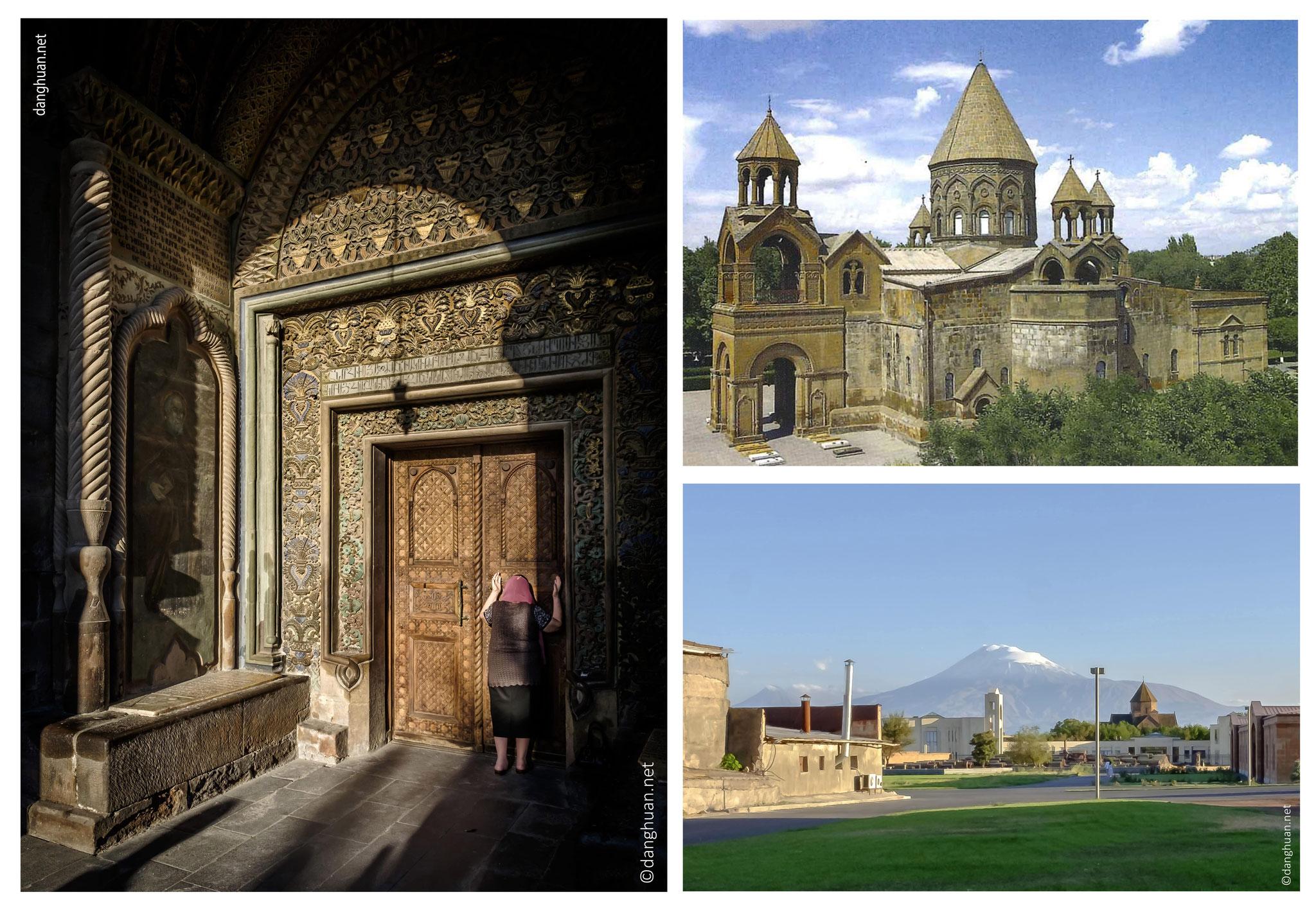 la cathédrale de Saint-Etchmiadzine, première cathédrale de l'Eglise arménienne ...