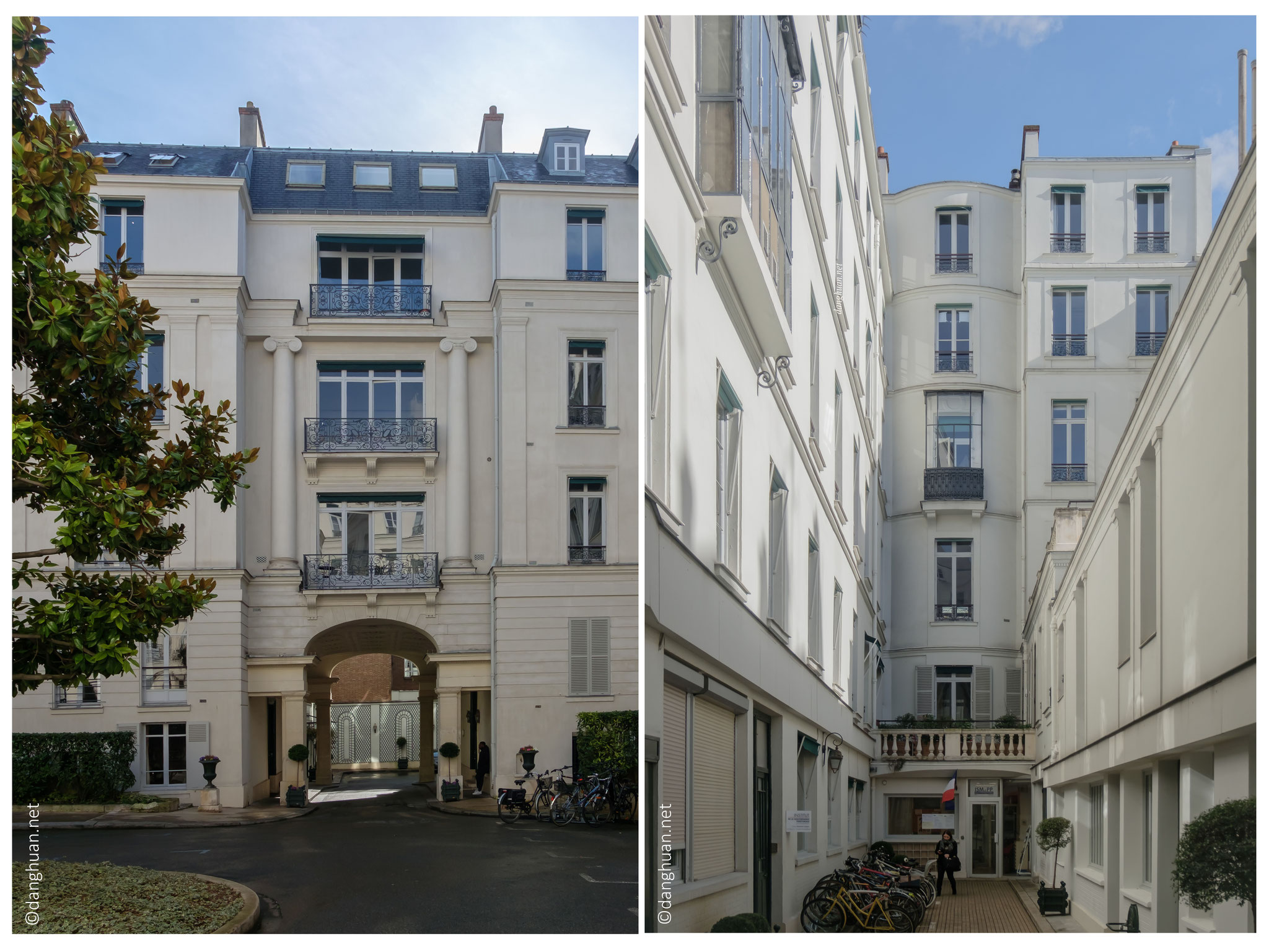 Square d'Orléans - rue Taitbout où résida F.Chopin