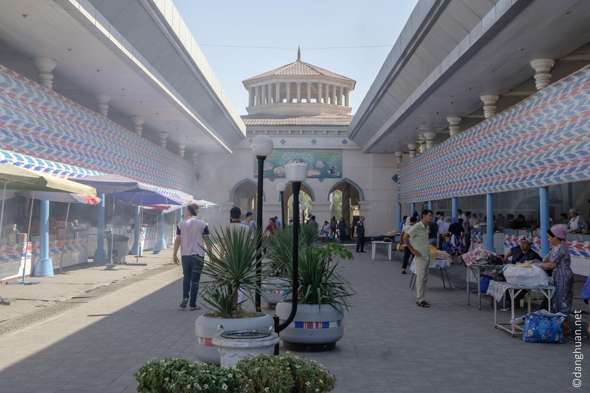 quartier des restaurants couverts au marché Chorsu
