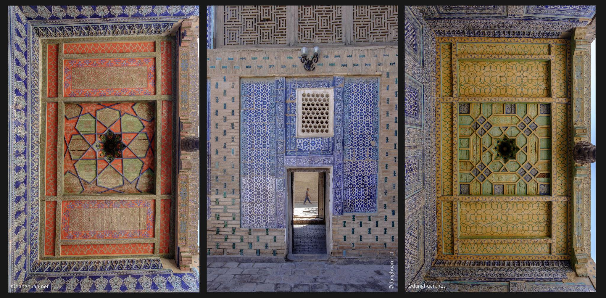 décorations des plafonds des Iwan du palais