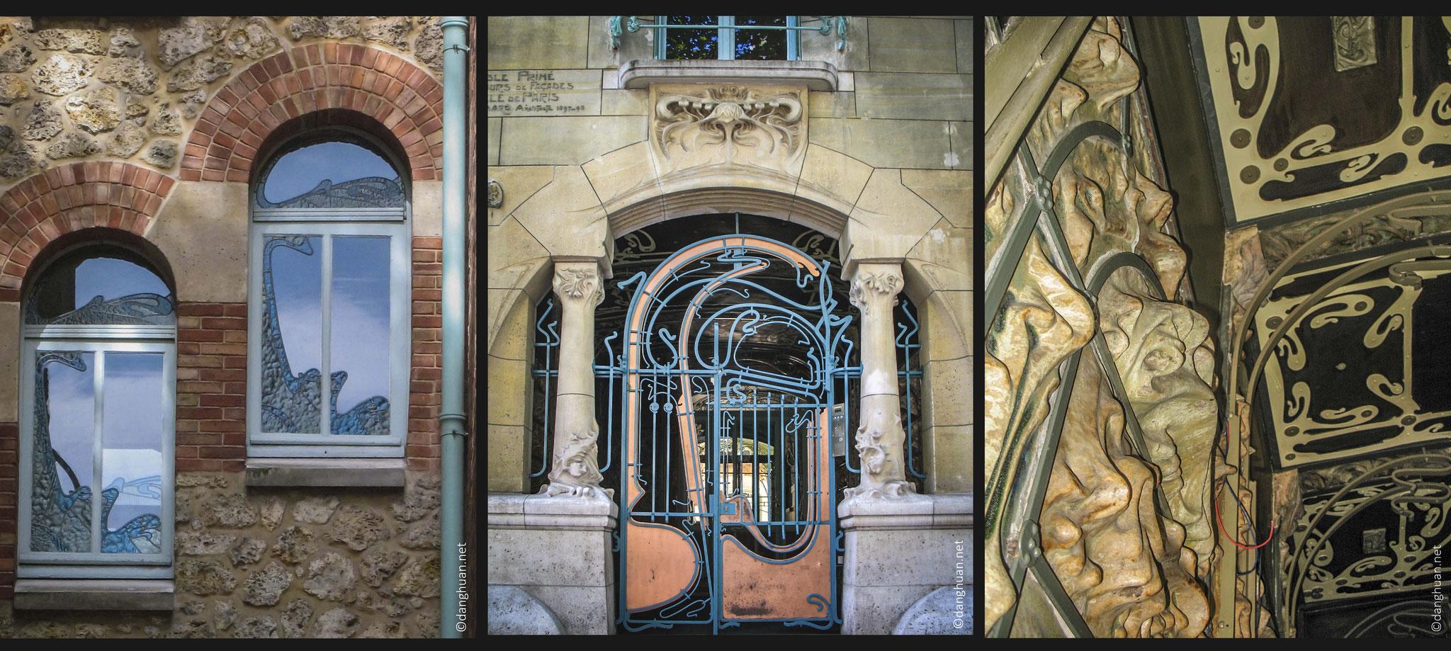 Le Castel Beranger (Guimard) - 14, rue La Fontaine et hameau Béranger, est un des chefs-d'œuvre majeurs de l'Art Nouveau Français construit entre 1895 et 1898