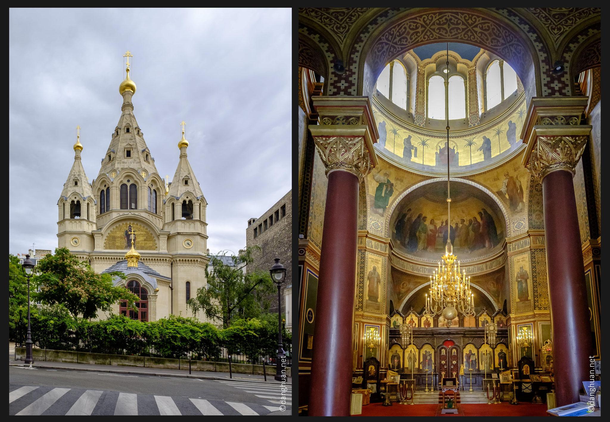 Cathédrale orthodoxe St Alexandre Nevsky : située à Paris, 12, rue Daru, dans le 8e arrondissement.