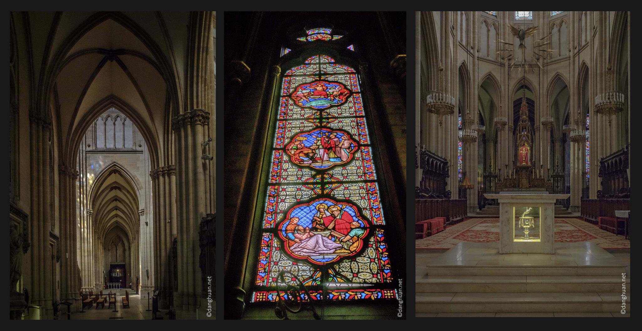 Basilique Sainte Clotilde - 96m de longueur, 39m de largeur au transept,vingtaine de mètre de hauteur de voûtes.