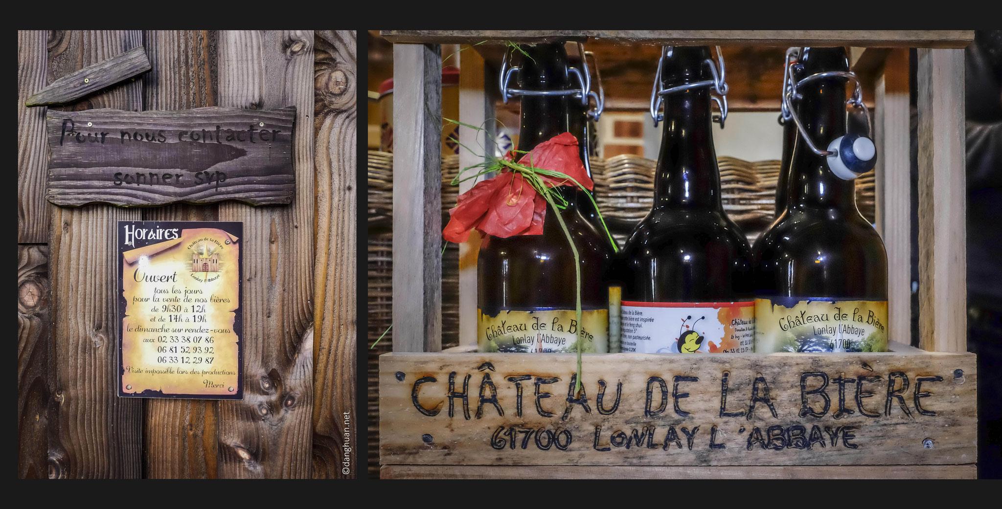 Les produits des brasseurs Donatien & Pascale LESELLIER à Lonlay-l'abbaye