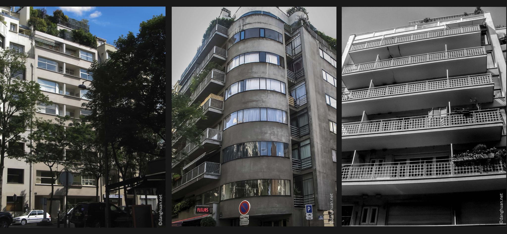Architecte : J.Ginsberg - immeubles au 25 Av de versailles (1931), 42 Av de versailles (1934),  1936