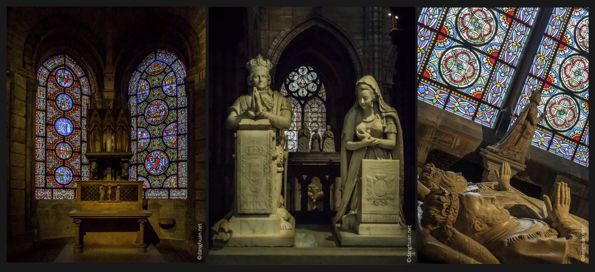 Basilique St Denis - Priants de Louis XVI et Marie-Atoinnette - commandés par Louis XVIII à l'occasion du retour des cendres des souverains, et achevés vers 1830