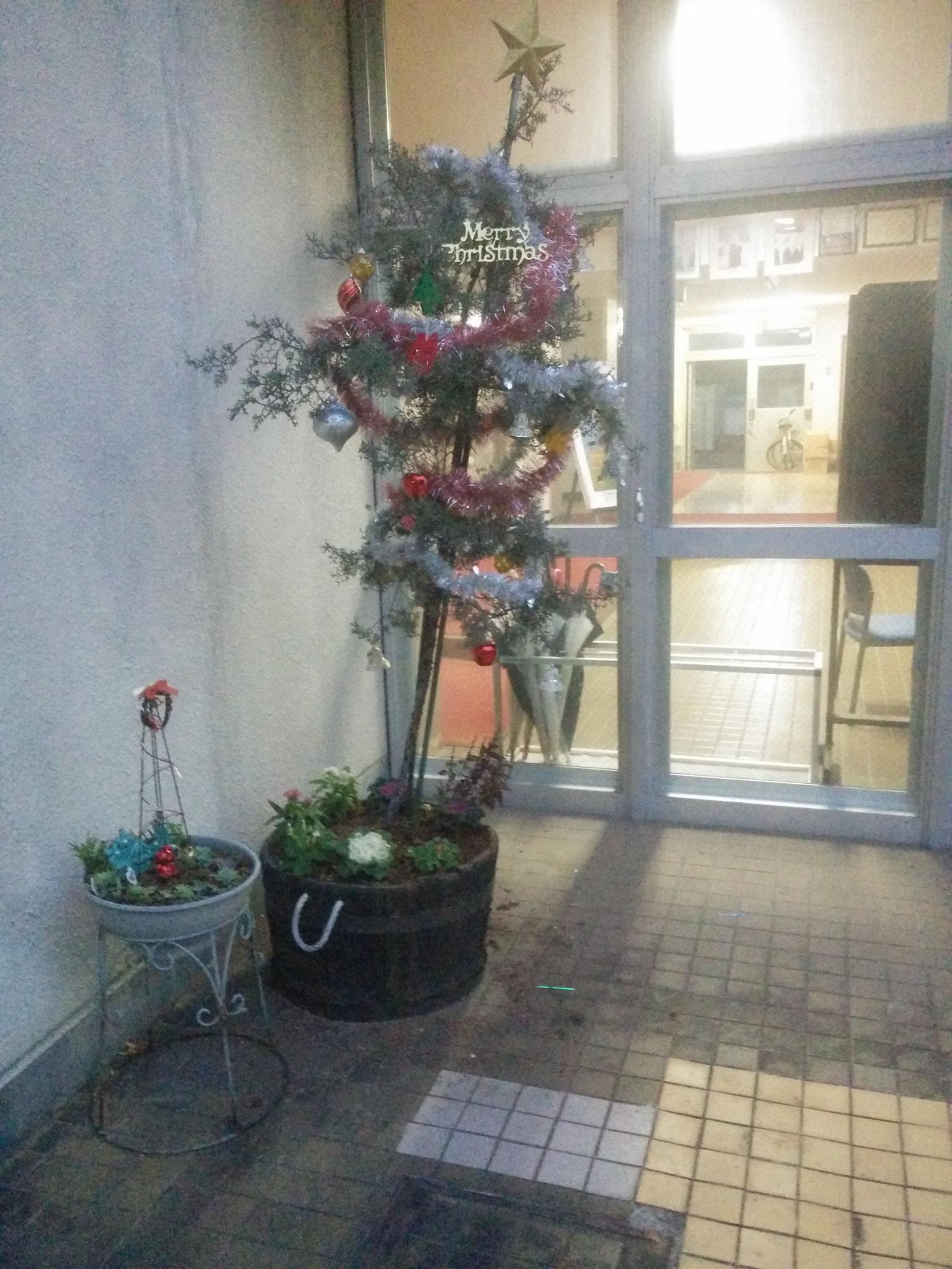 one of the schools christmas tree (Yamato Nishi Senior High)