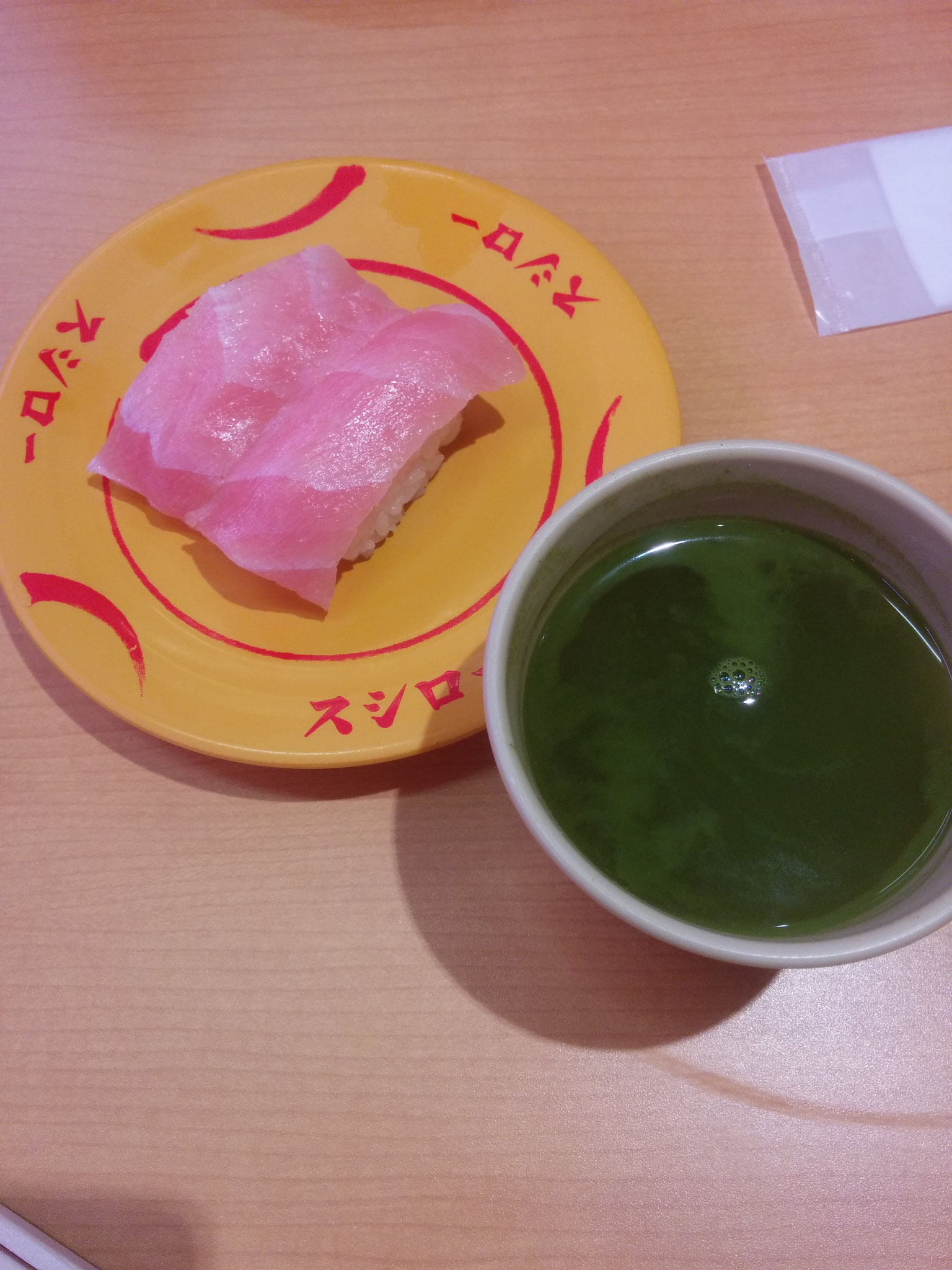 6 Sushi and Green Tea