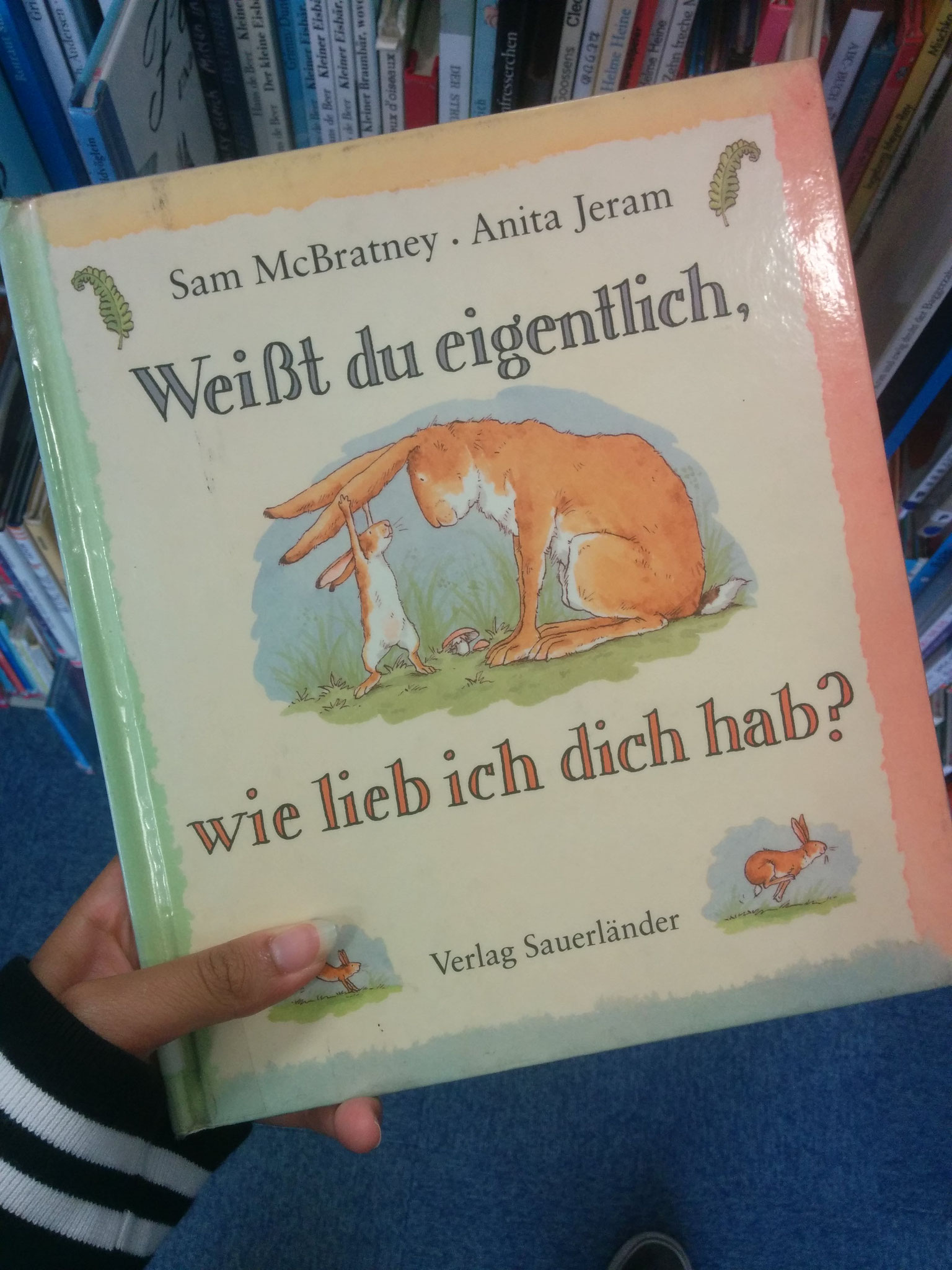 19 In the library there was a section for foreign language kids' books, guess what I found