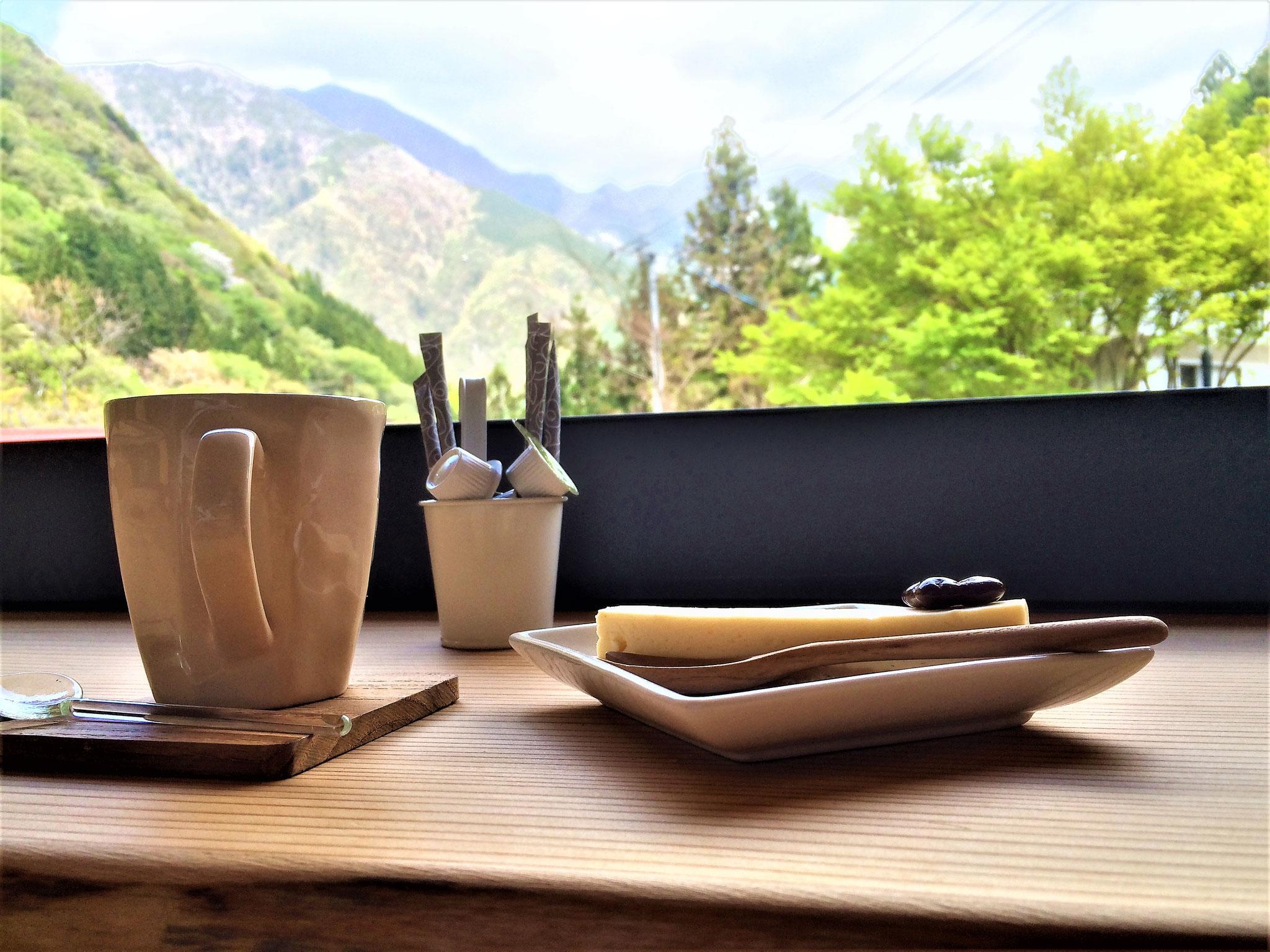 足湯カフェからの眺め