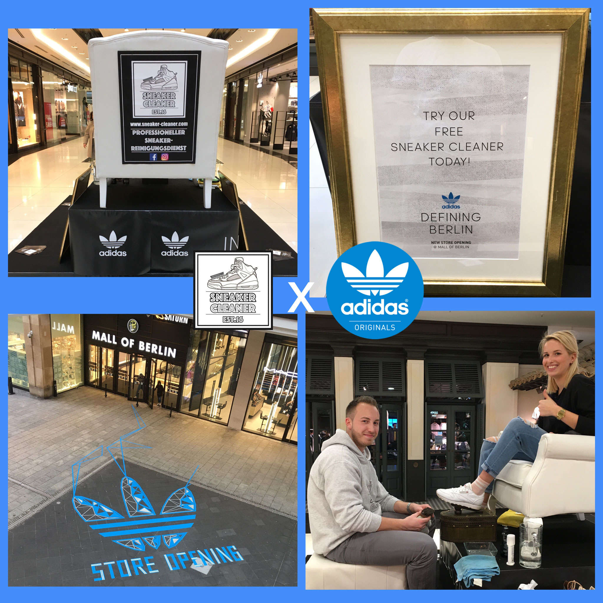 Bookingauftrag in der Mall of Berlin für Adidas Originals