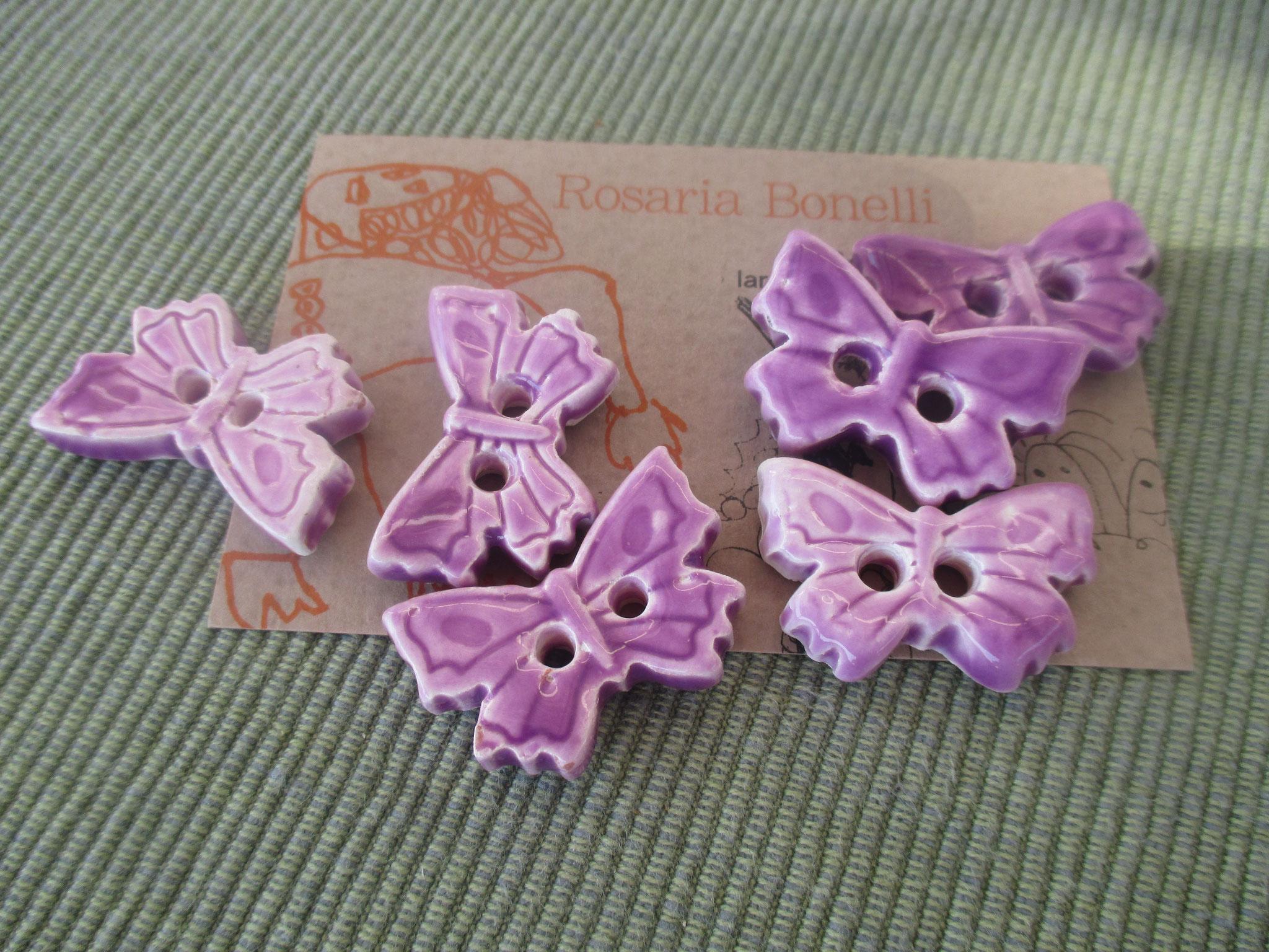 Bottoni Farfalle in ceramica Le Terre di Rò