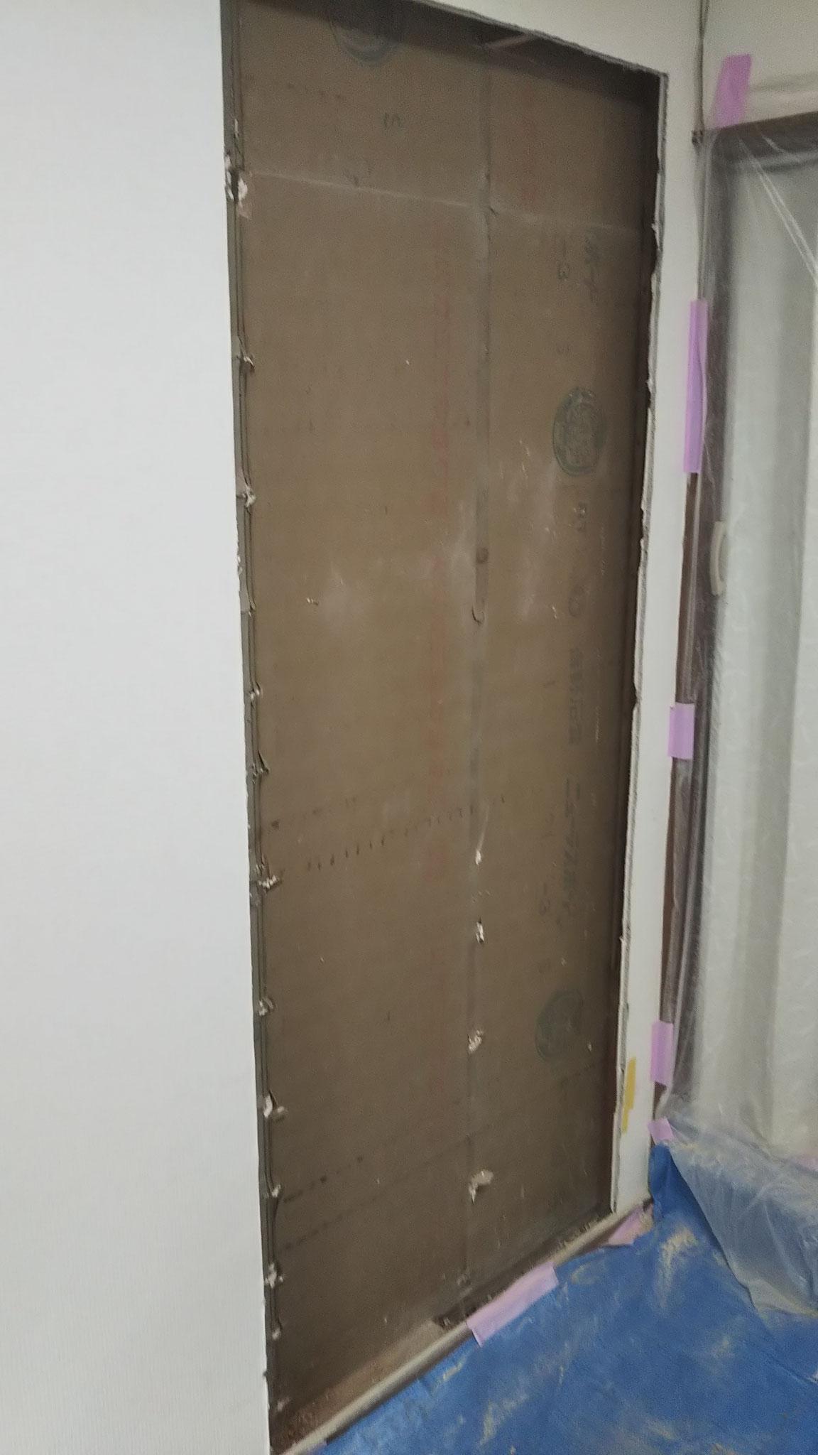 施工中 壁を撤去します。