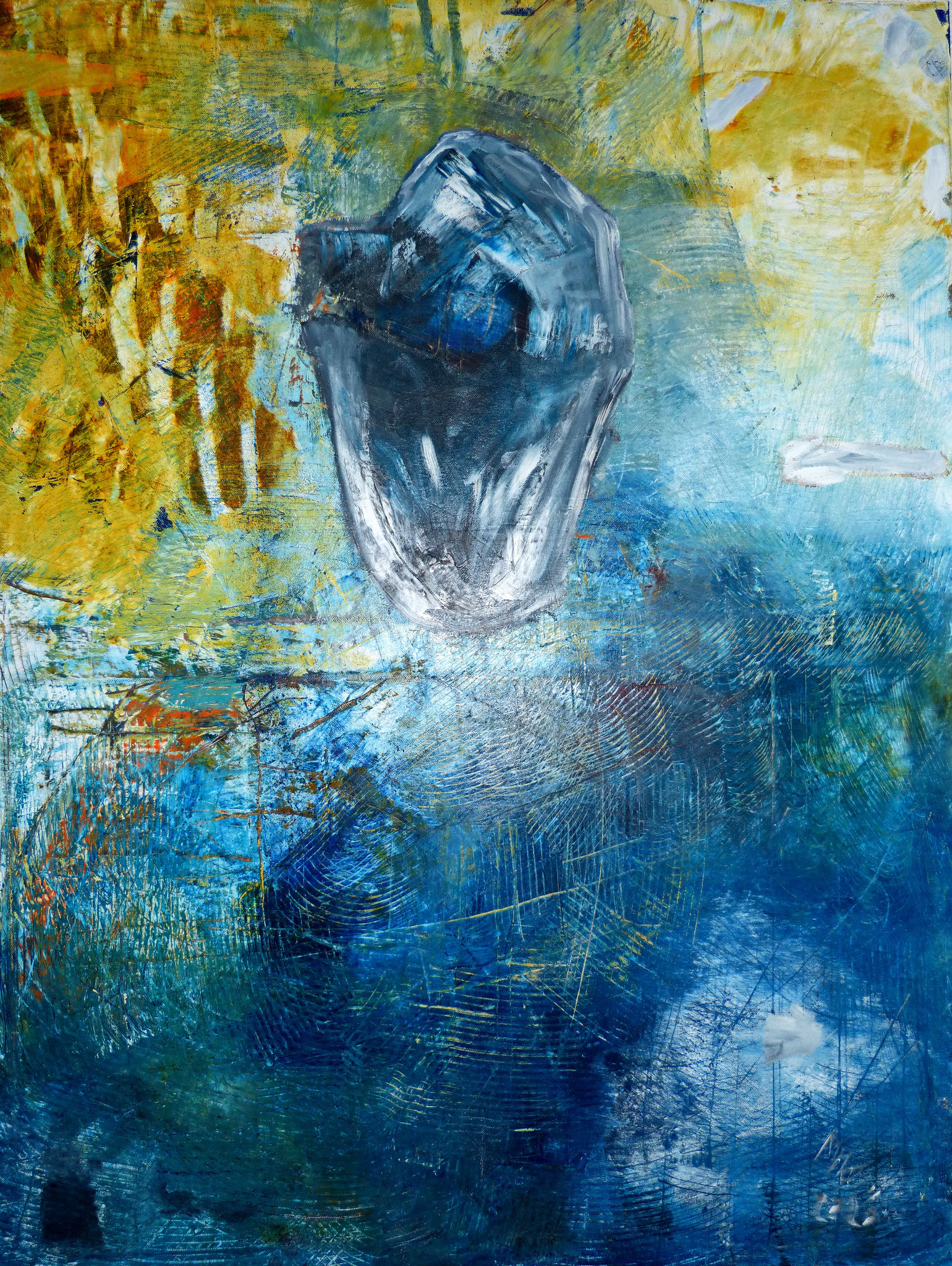 """Ein Tropfen Erde""___ oil on canvas___600 x 800 mm"