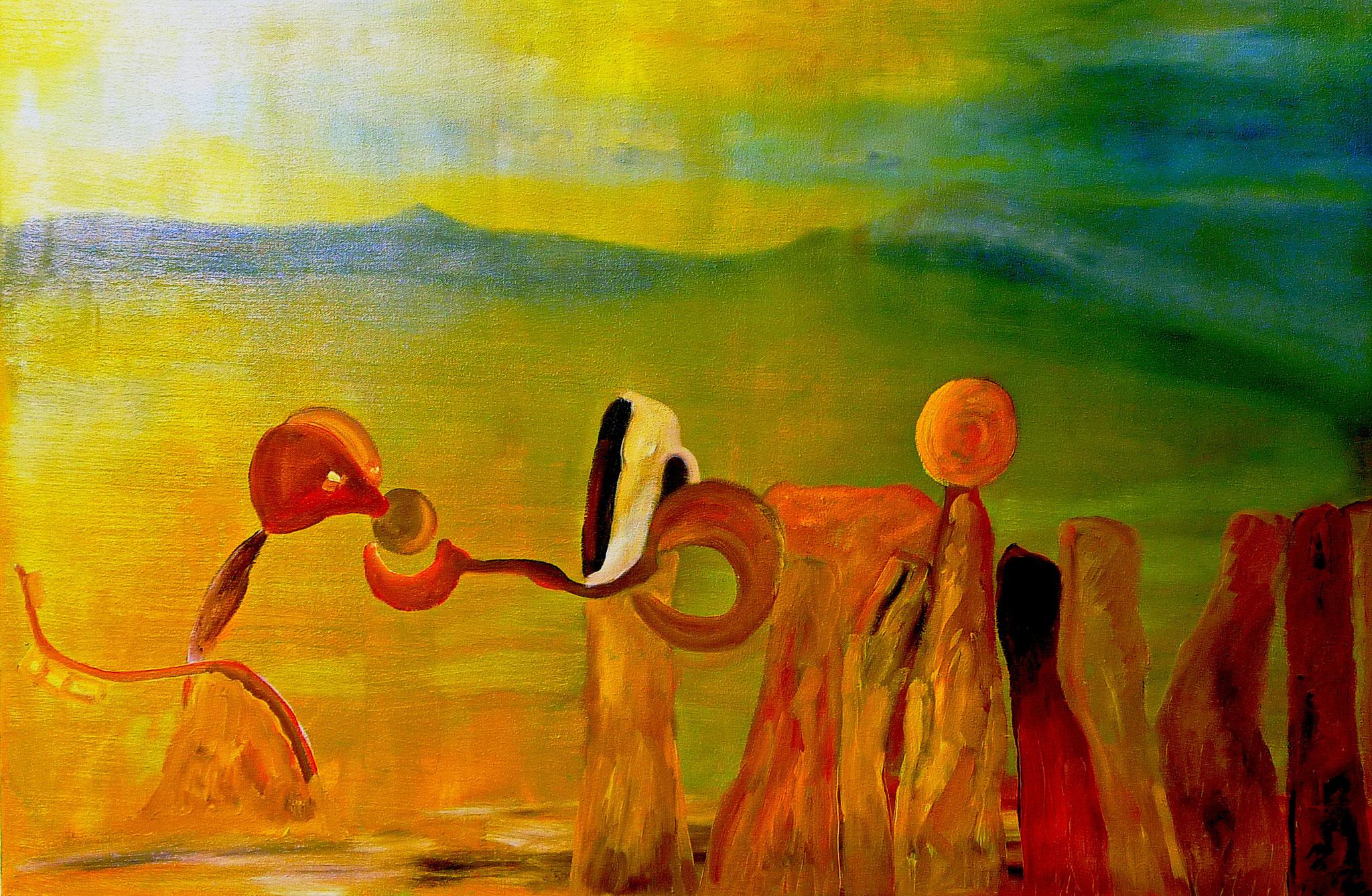 """Unser Alltag""___oil on canvas___900 x 600 mm"