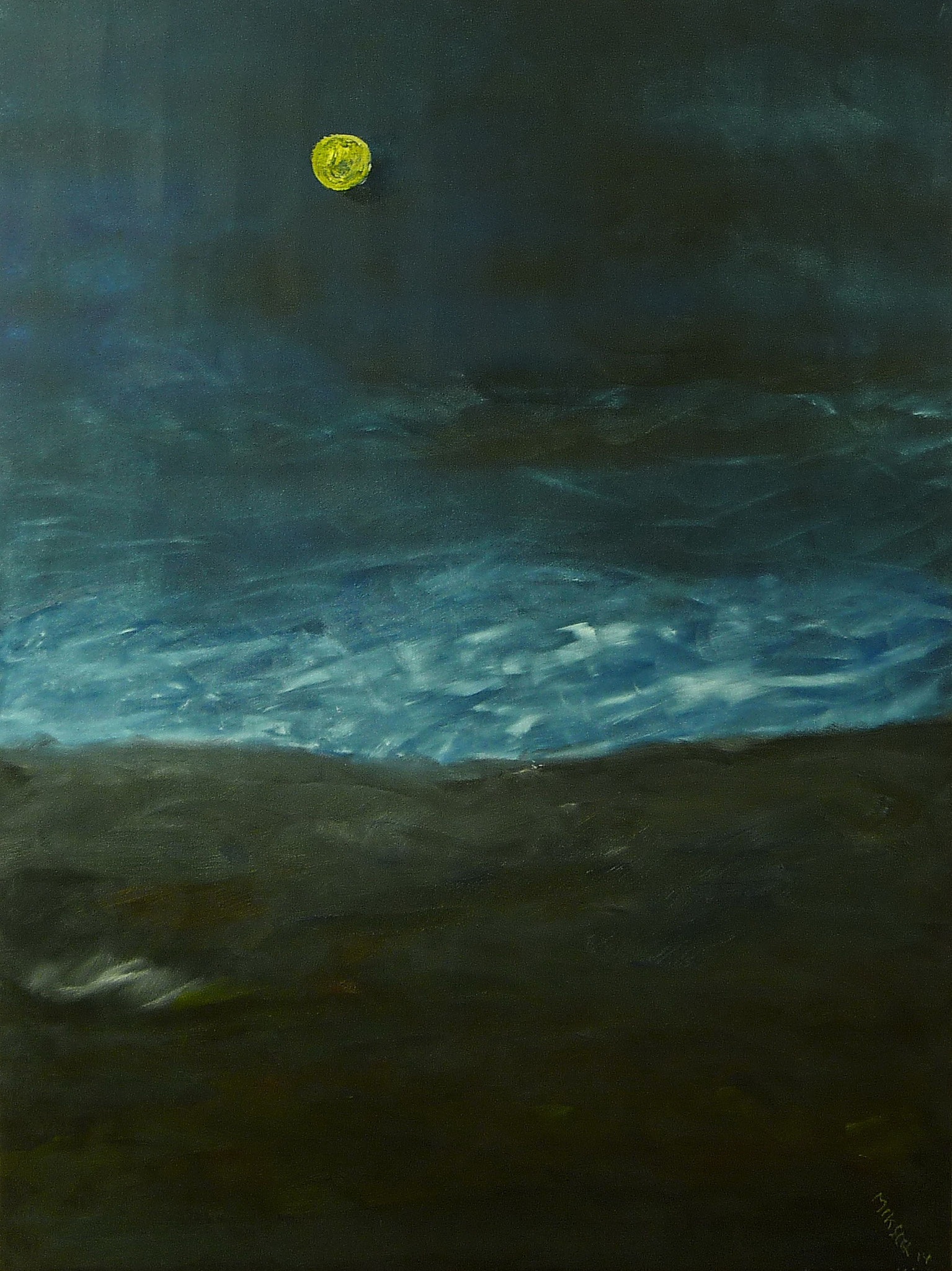 """Black moon""___oil on canvas____600 x 800 mm"