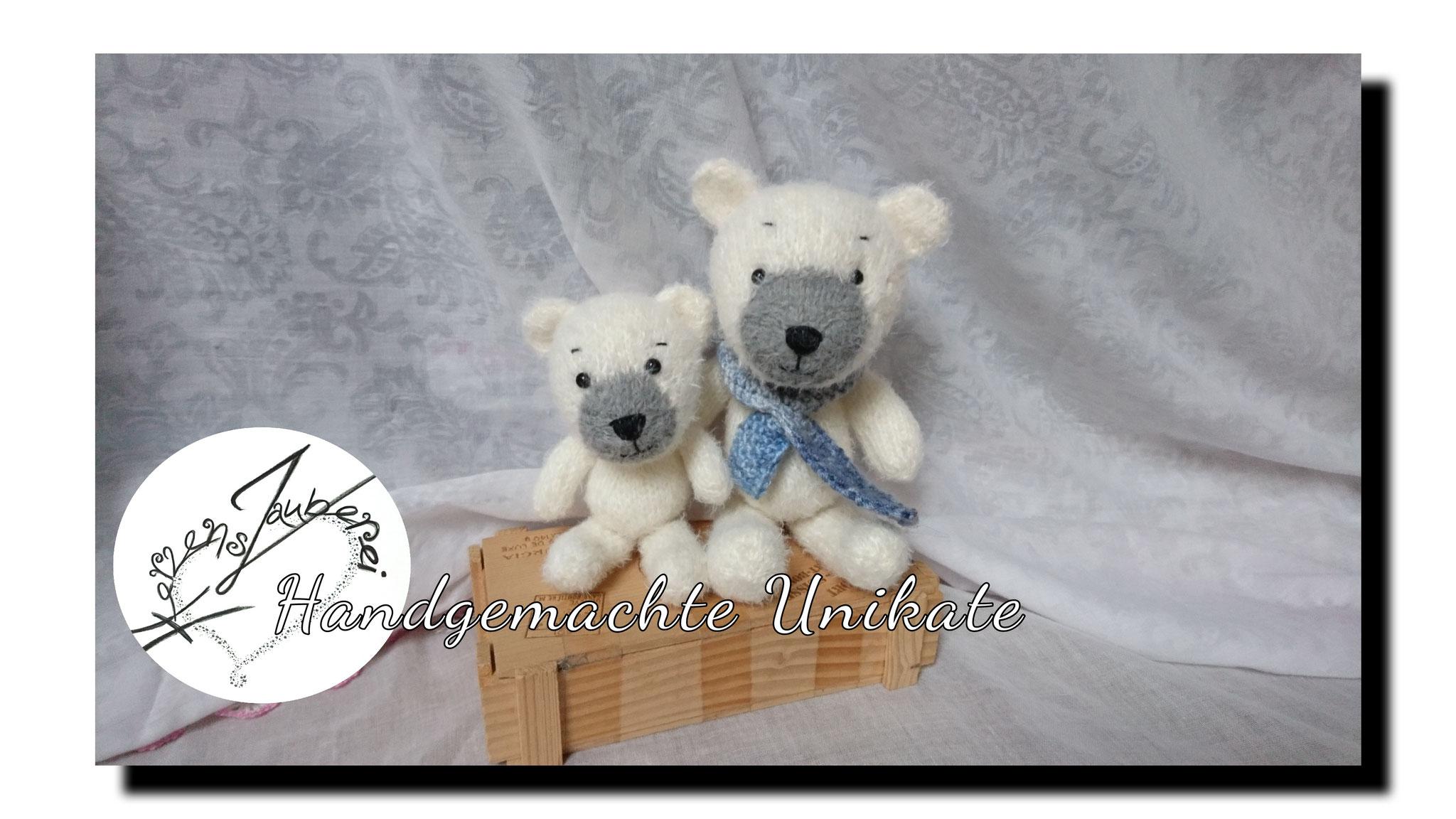 Eisbären gestrickt, Preis nach Grösse ab 40.-