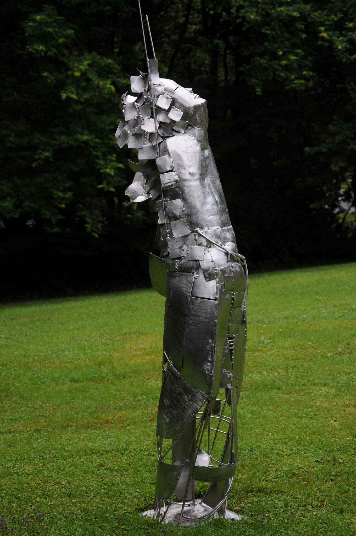 Engel des Regens ll  stainless steel   (209 cm x 40 cm x 40 cm )