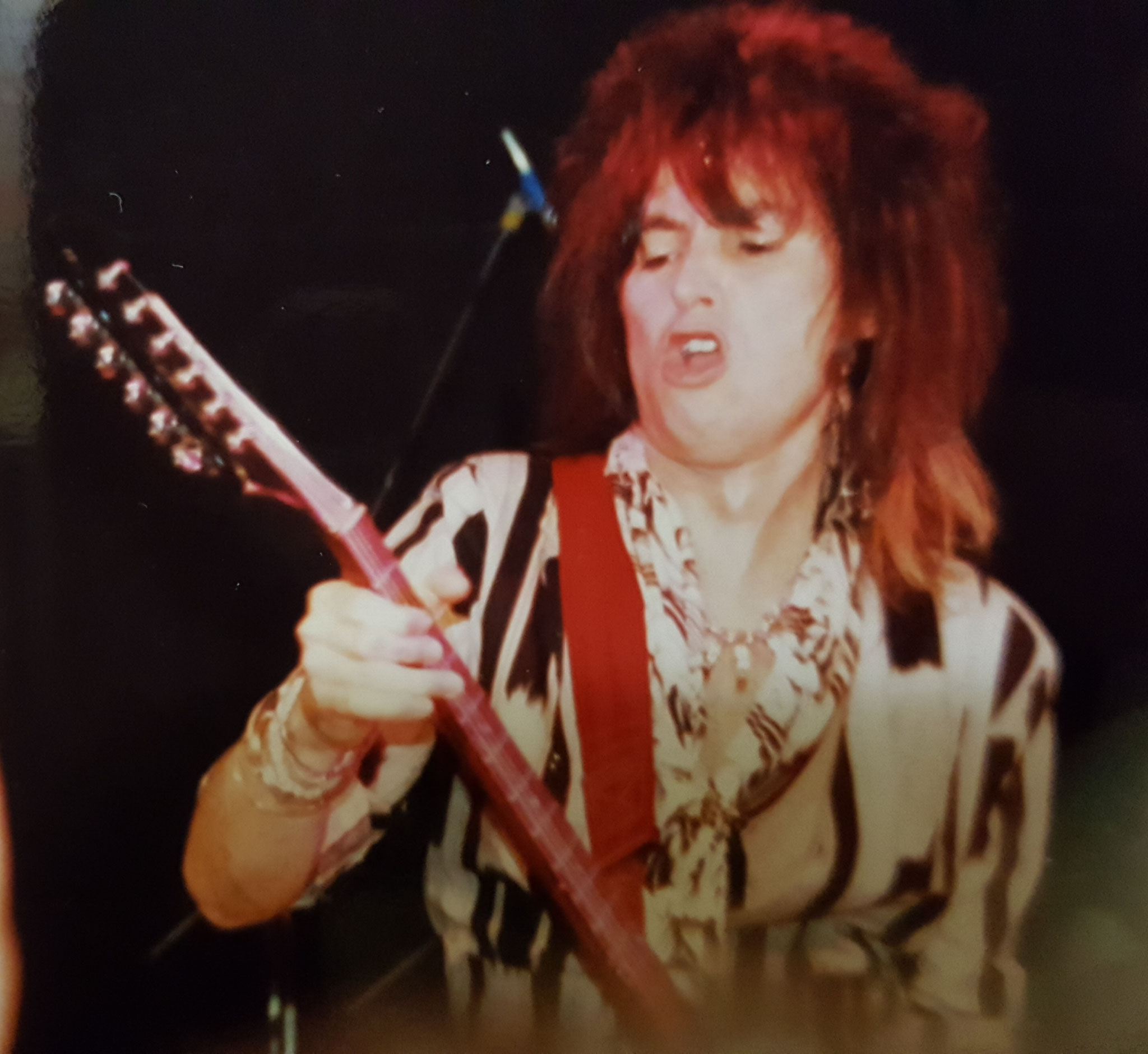 UFO at The Living Room in Providence, Rhode Island - Misdemeanor Tour 1985 - pic by Jack Sullivan