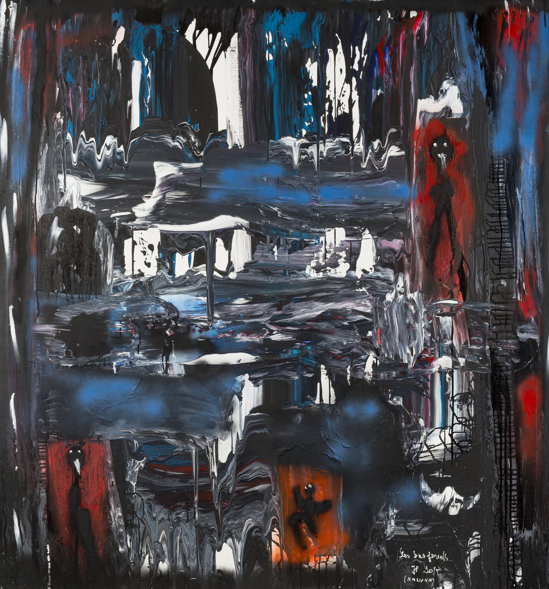 Les Bas fonds (2015) - Acrylique sur toile, 150 x 140 cm