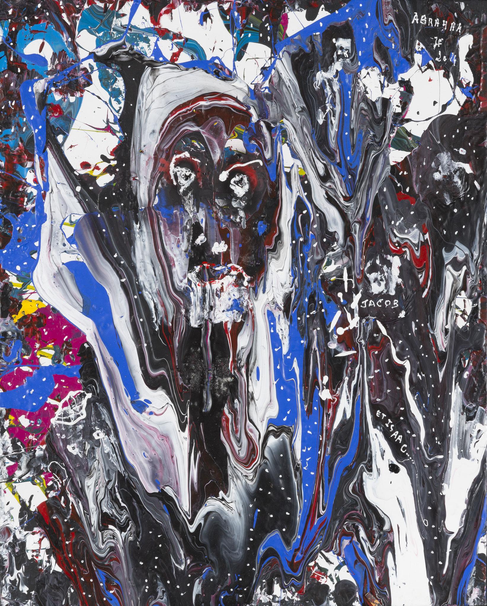 Le Patriarche (2014) - Acrylique sur toile, 100 x 80 cm